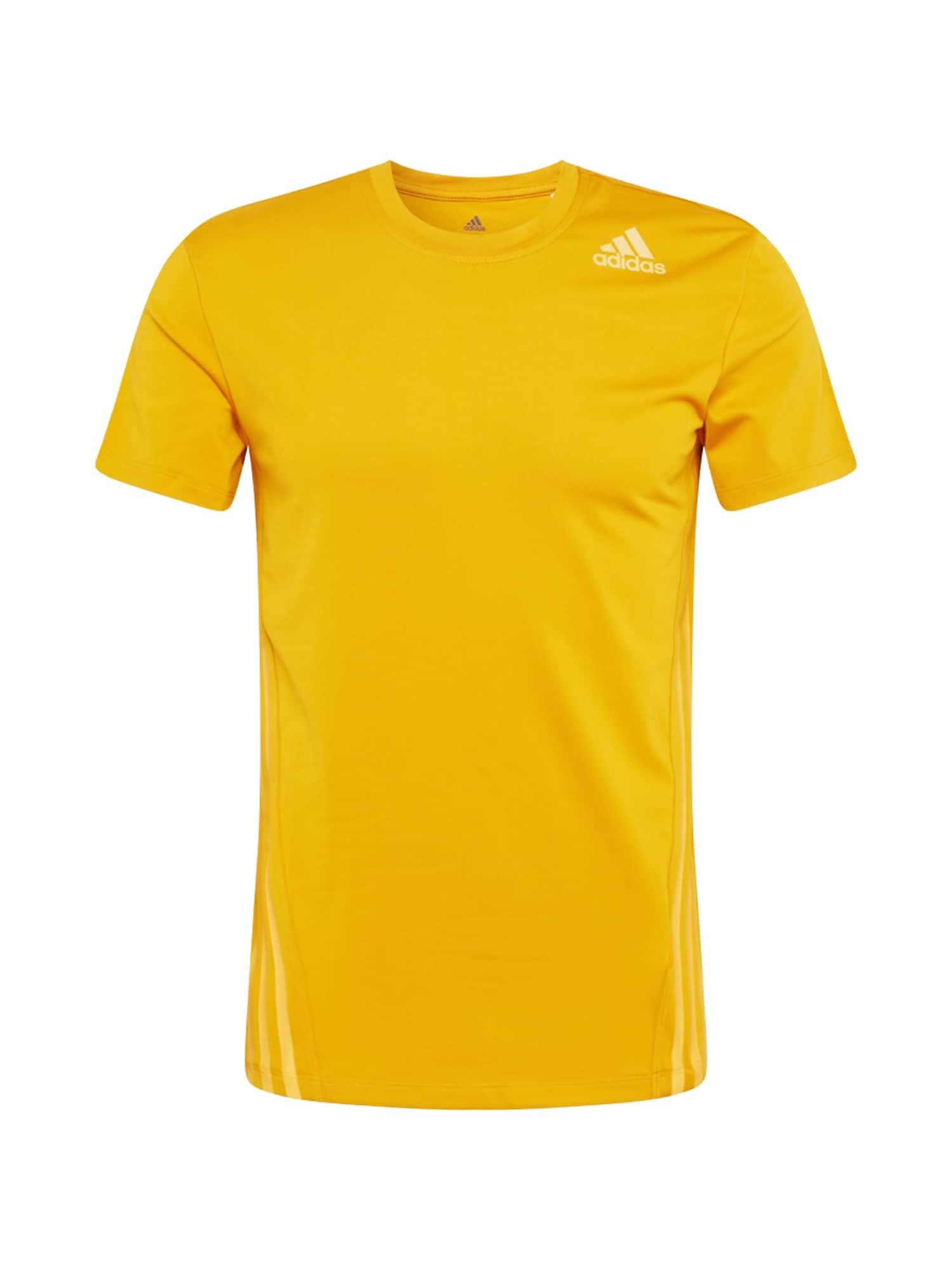 ADIDAS PERFORMANCE Funkční tričko 'Aero 3'  žlutá