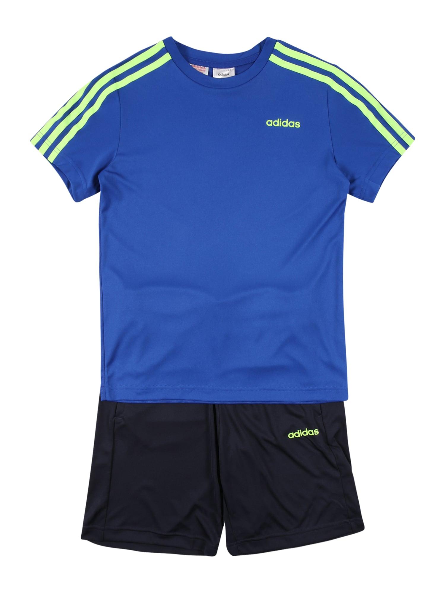 """ADIDAS PERFORMANCE Sportinis kostiumas nakties mėlyna / balta / sodri mėlyna (""""karališka"""") / neoninė žalia"""