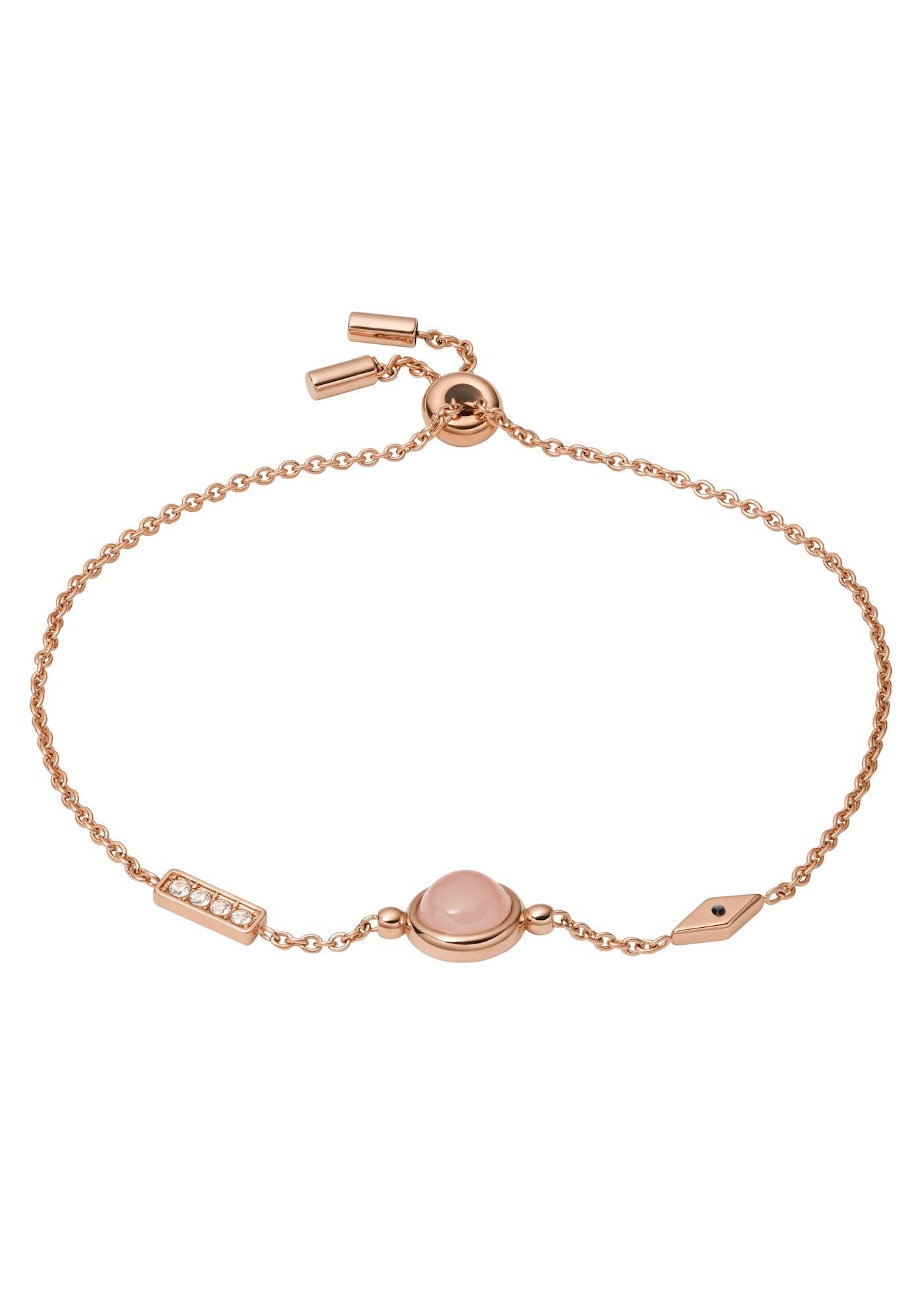 FOSSIL Apyrankė rožinio aukso spalva / ryškiai rožinė spalva / balta