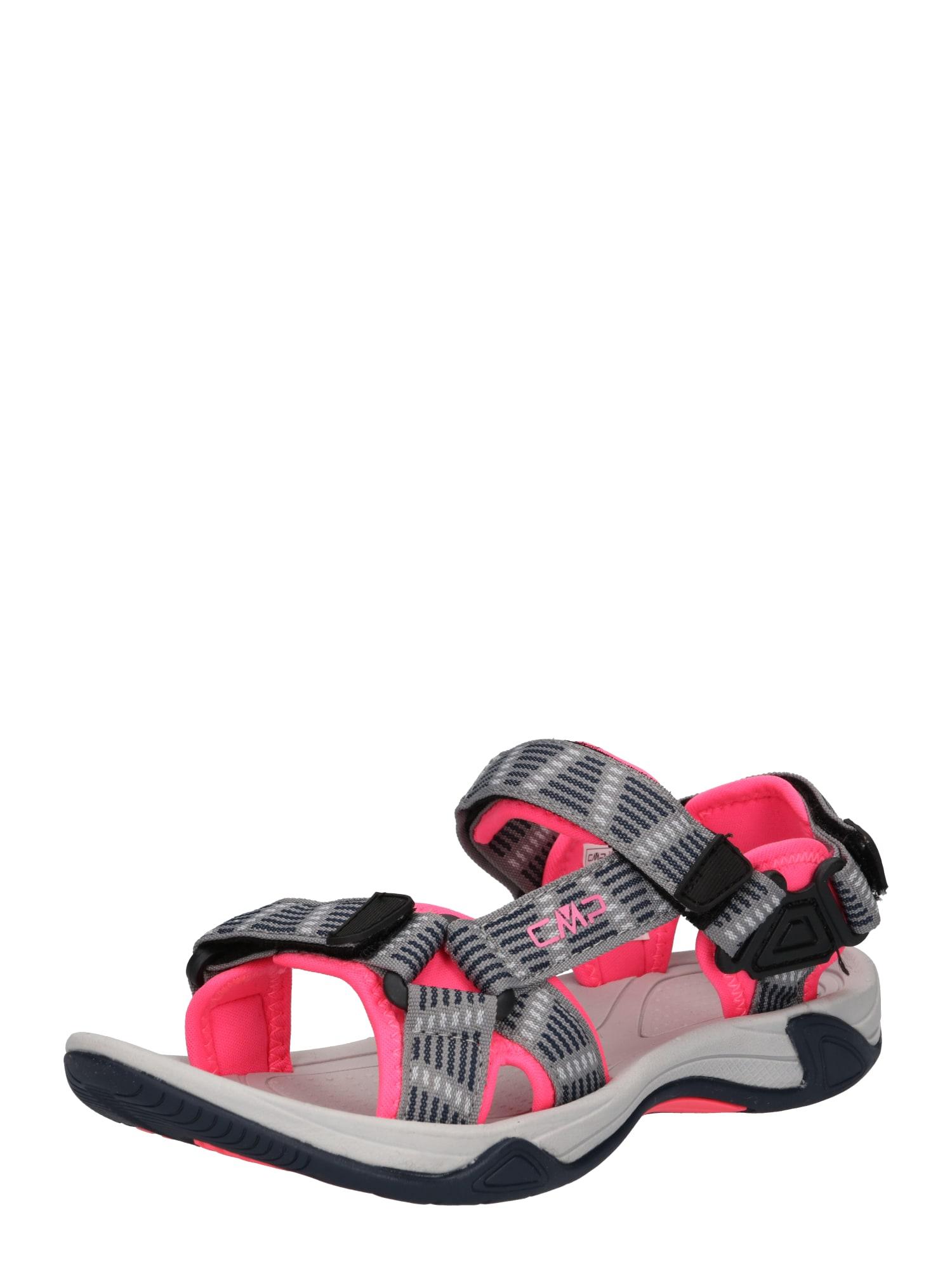 CMP Trekingové sandály 'Hamal'  šedá / černá / svítivě růžová