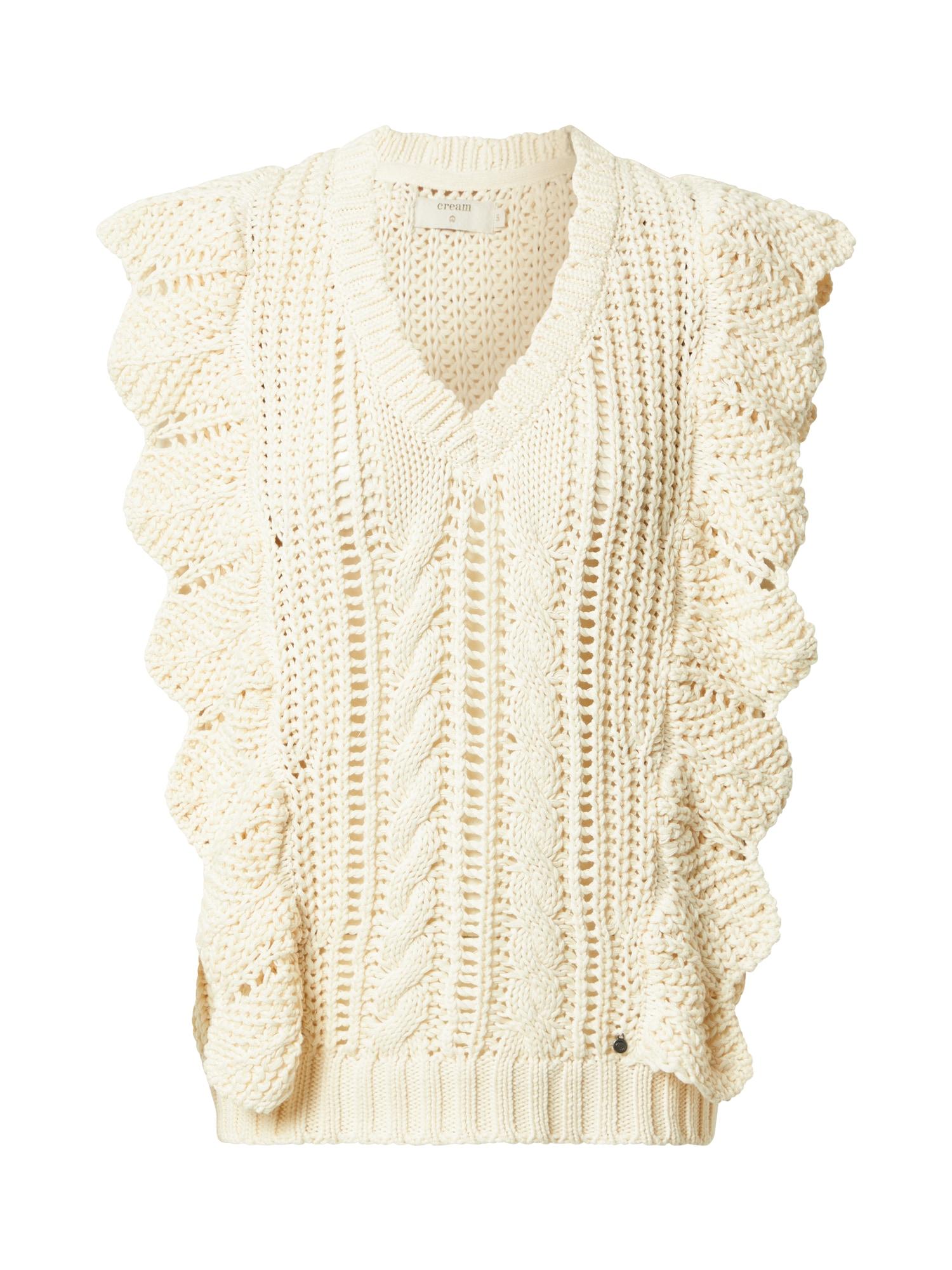 Cream Megztinis 'Annolina' pastelinė geltona