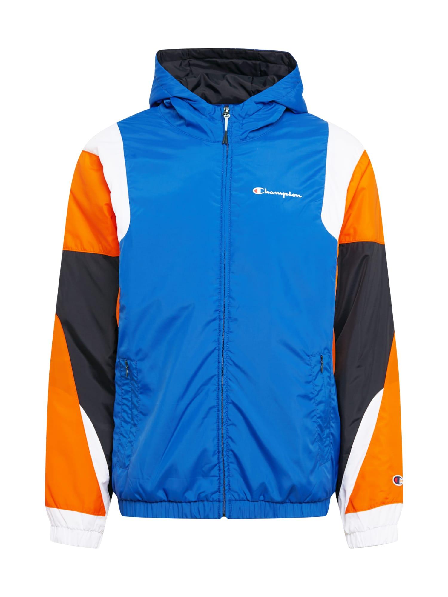 Champion Authentic Athletic Apparel Demisezoninė striukė tamsiai mėlyna / oranžinė / balta / juoda
