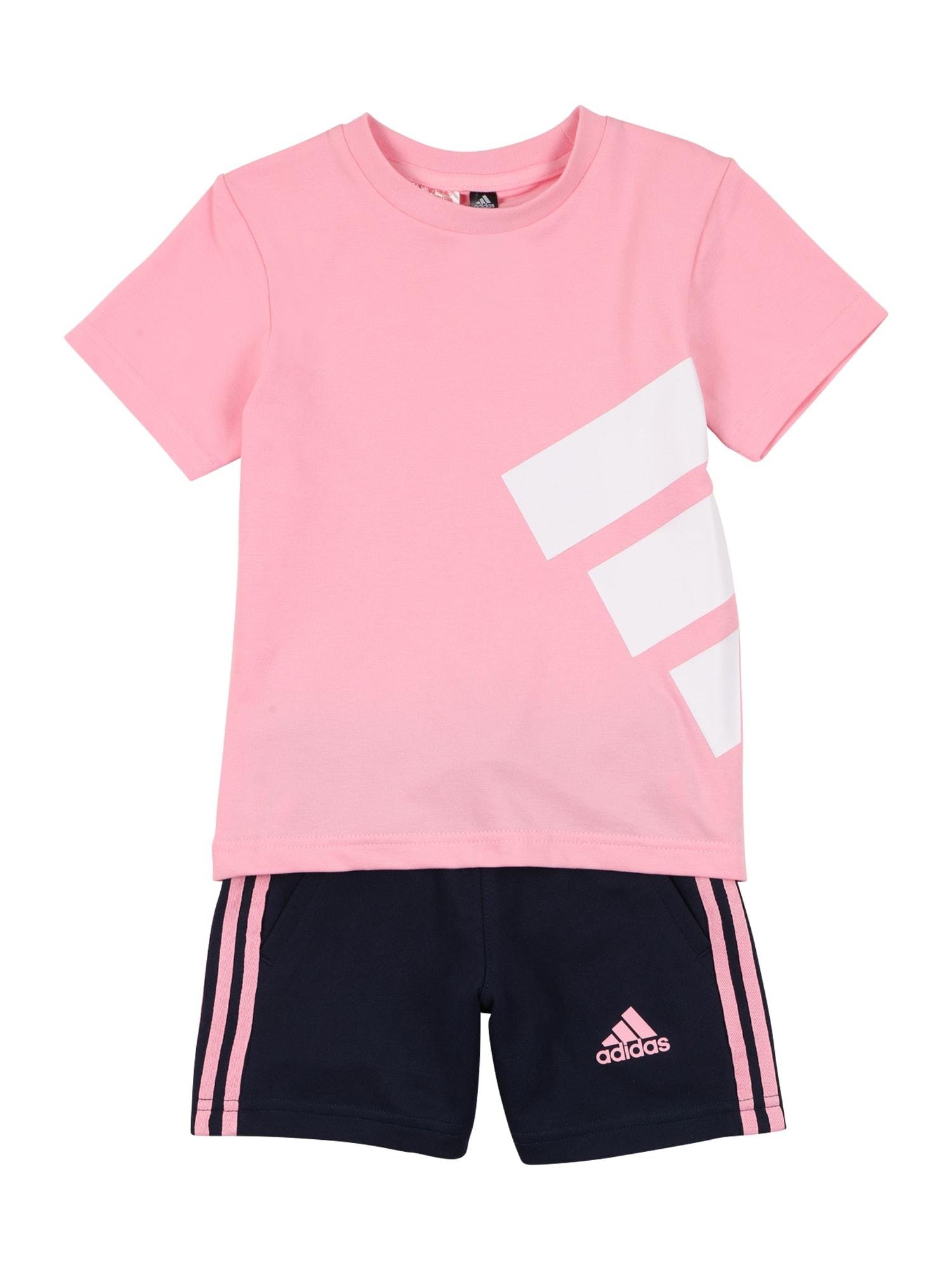 ADIDAS PERFORMANCE Treniruočių kostiumas rožinė / tamsiai mėlyna / balta