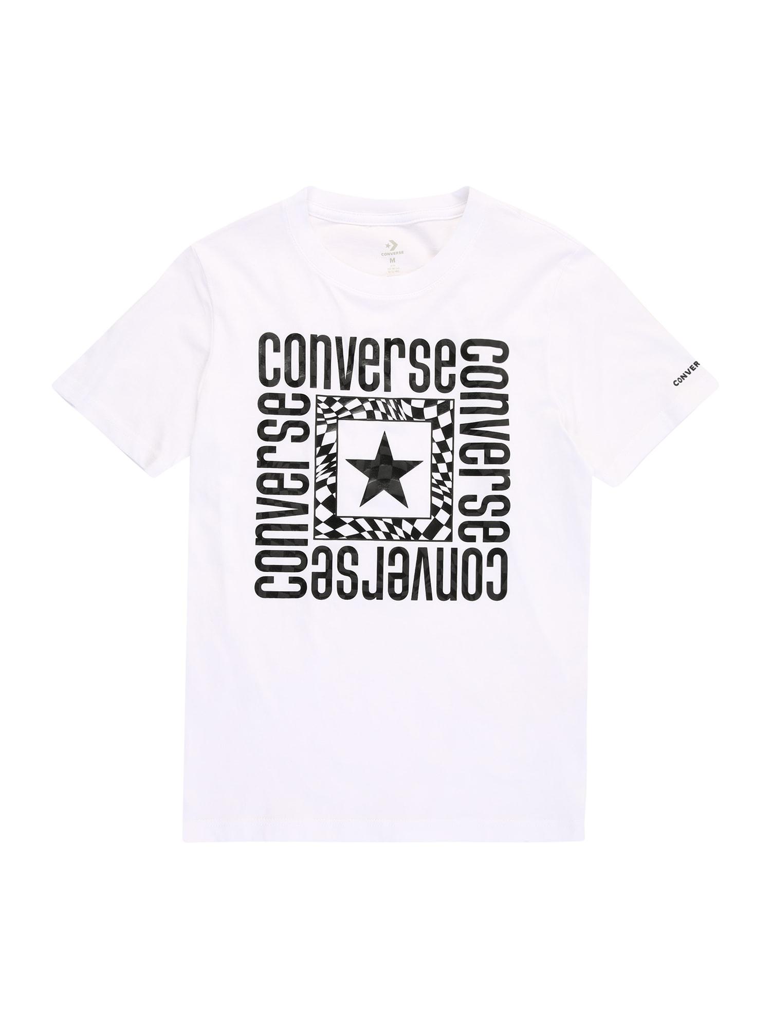 CONVERSE Marškinėliai balta / juoda