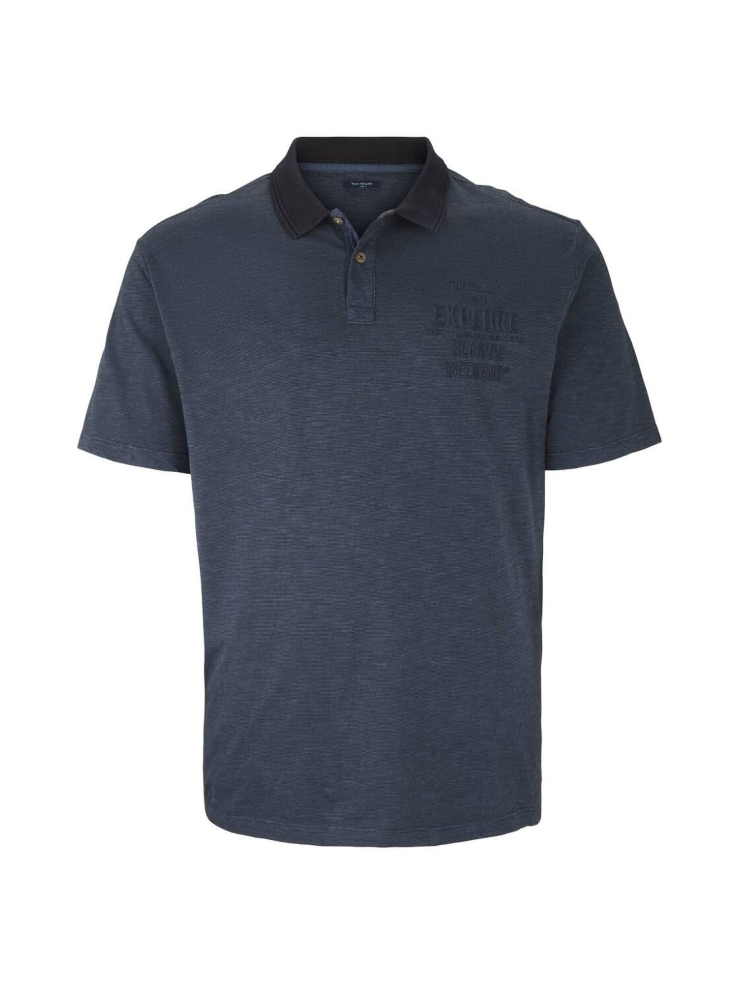 TOM TAILOR Men + Tričko  tmavě modrá