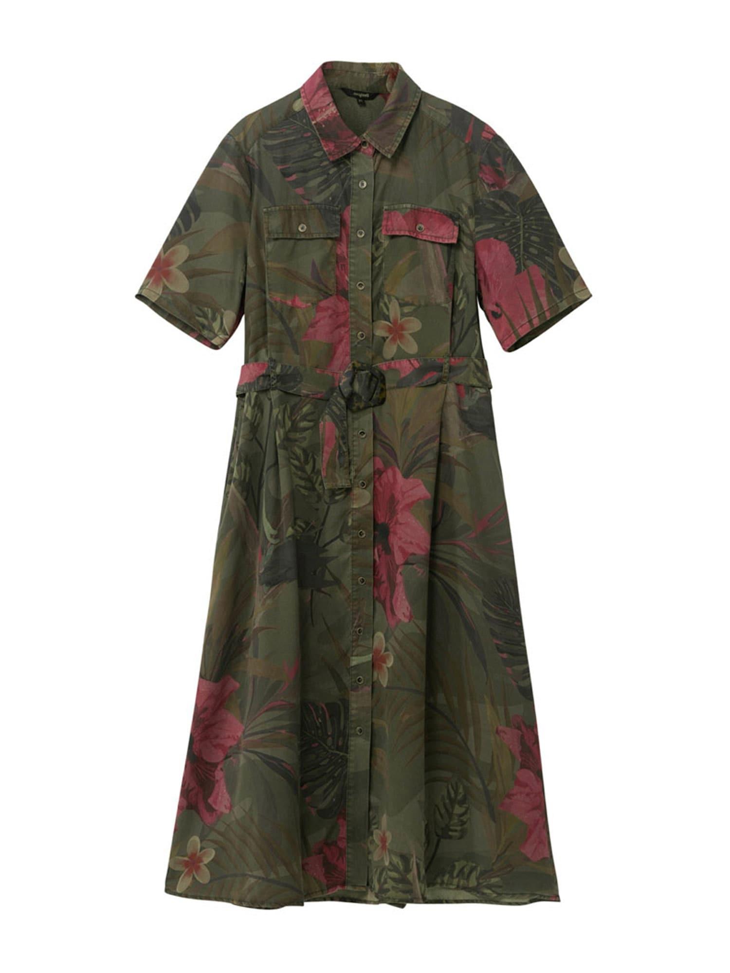 Desigual Košilové šaty 'ANGELA'  zelená / mix barev
