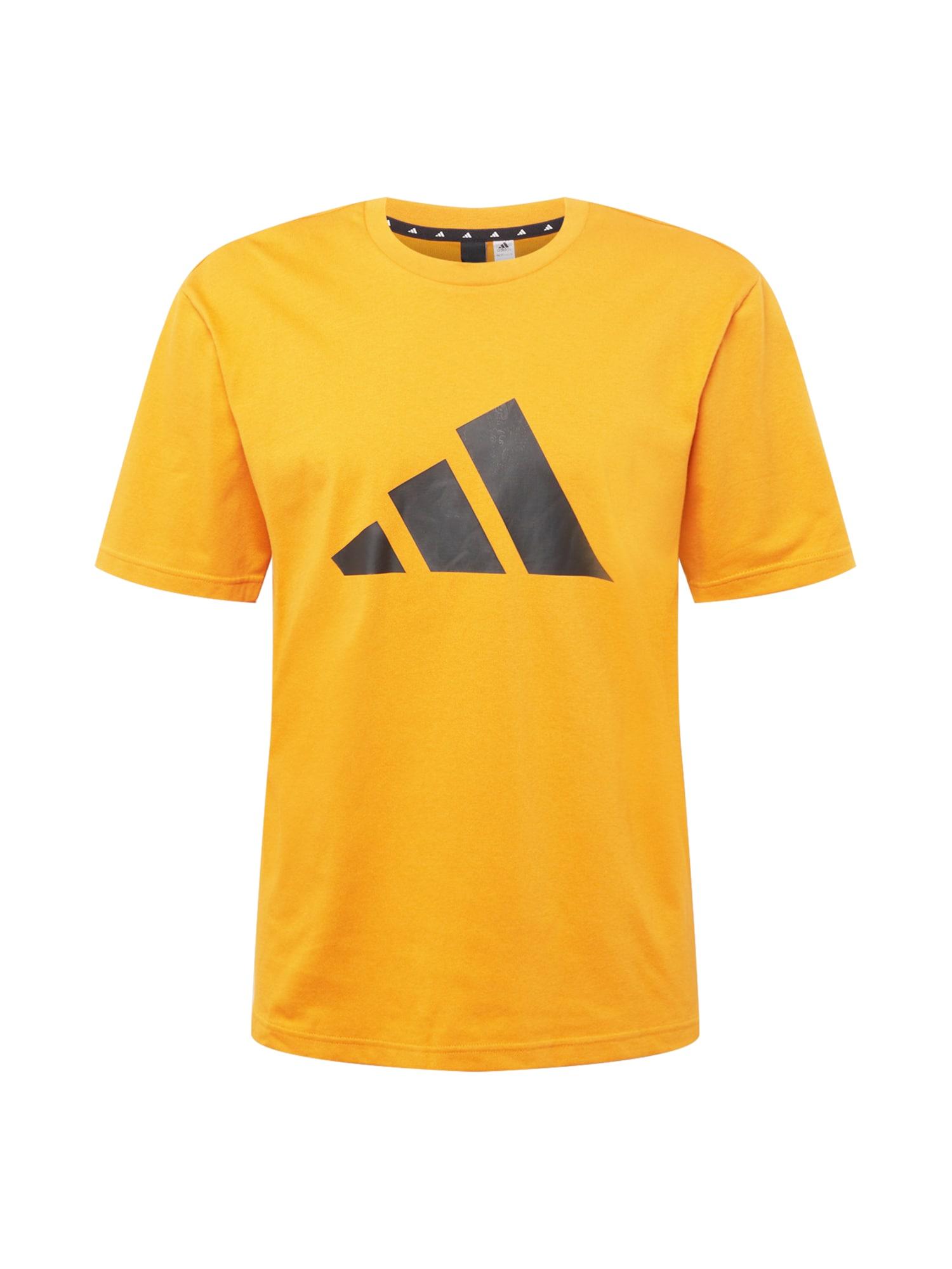 ADIDAS PERFORMANCE Funkční tričko  oranžová / černá