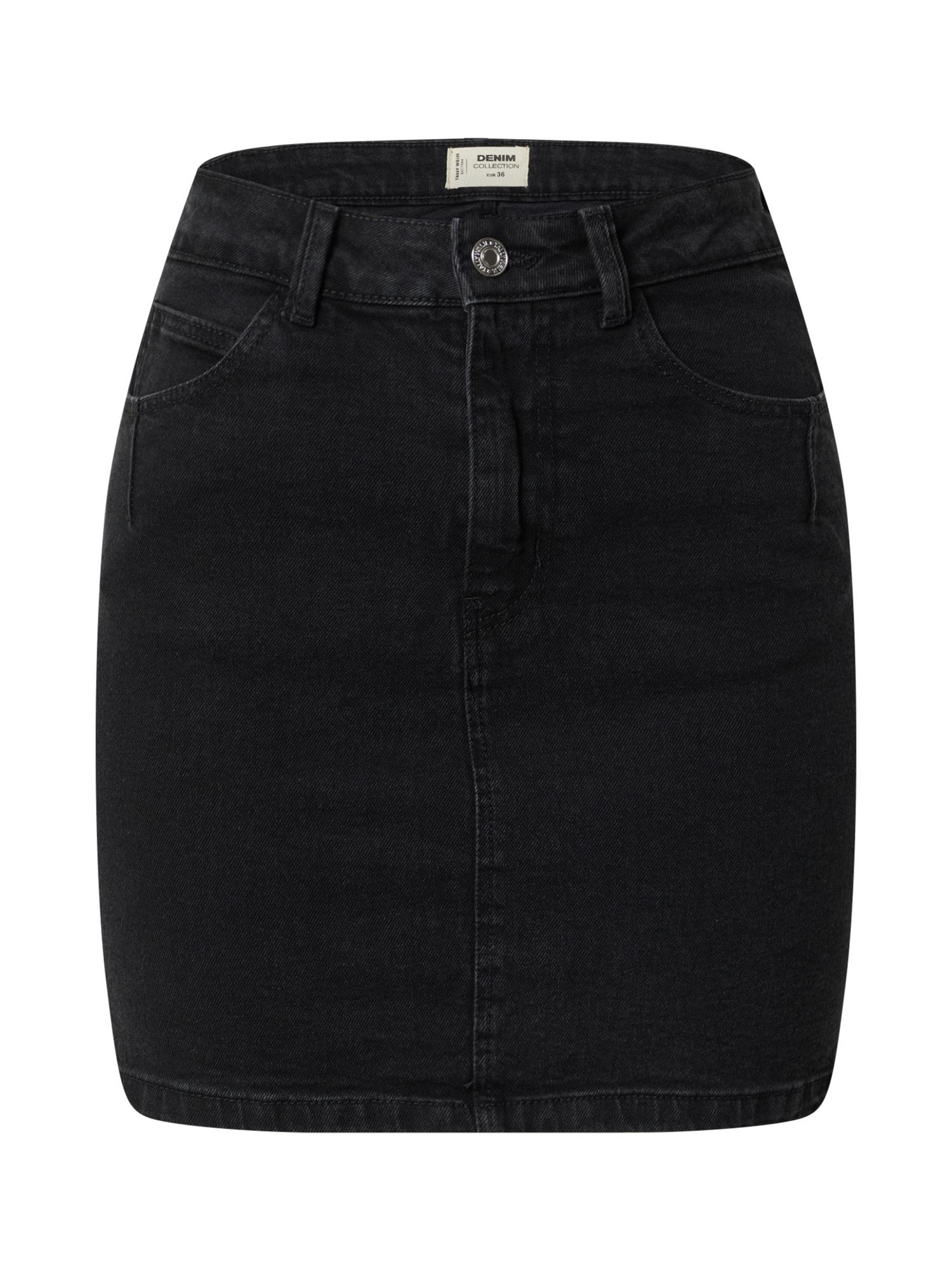Tally Weijl Sijonas juodo džinso spalva