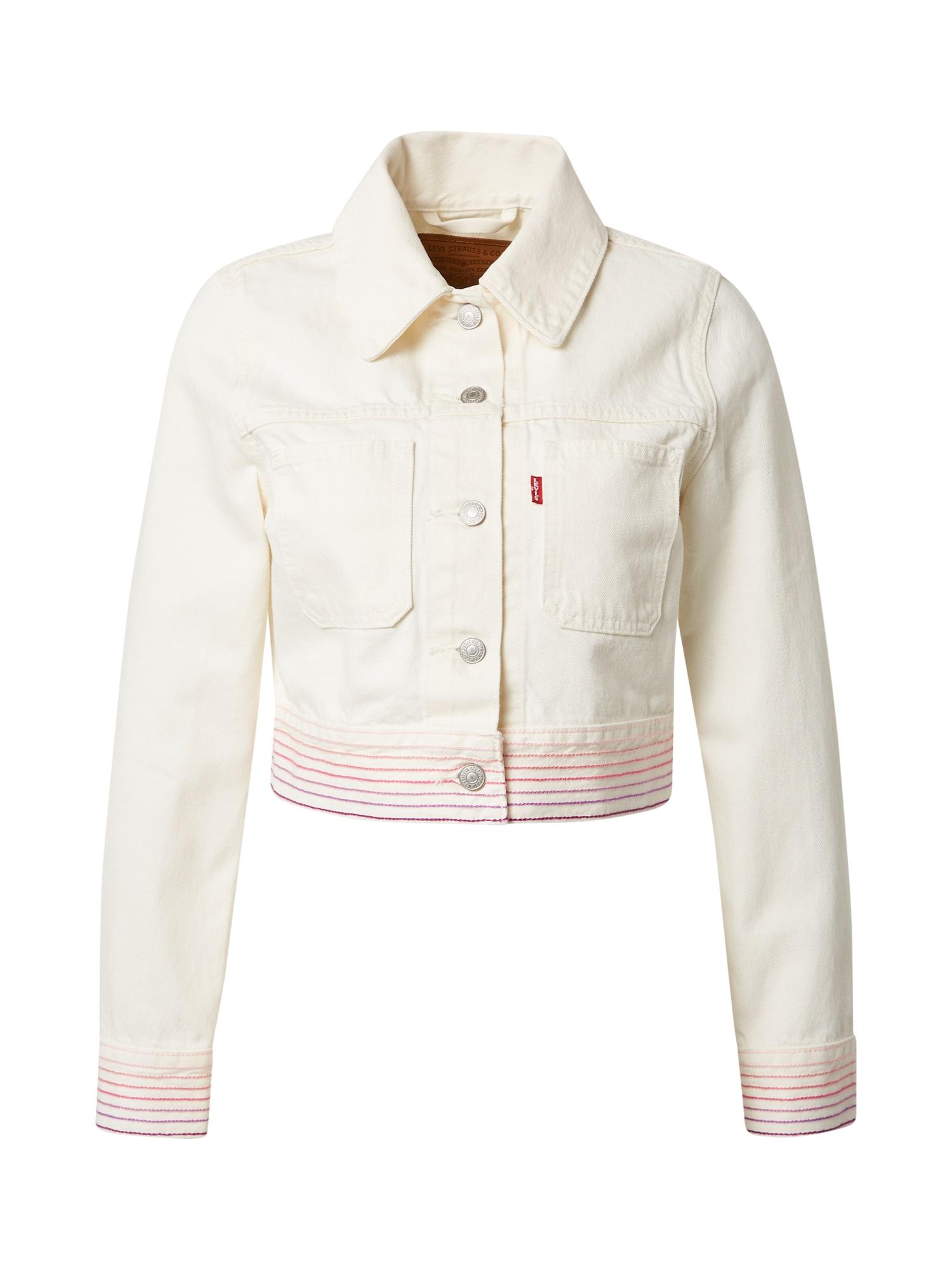 LEVI'S Demisezoninė striukė balto džinso spalva