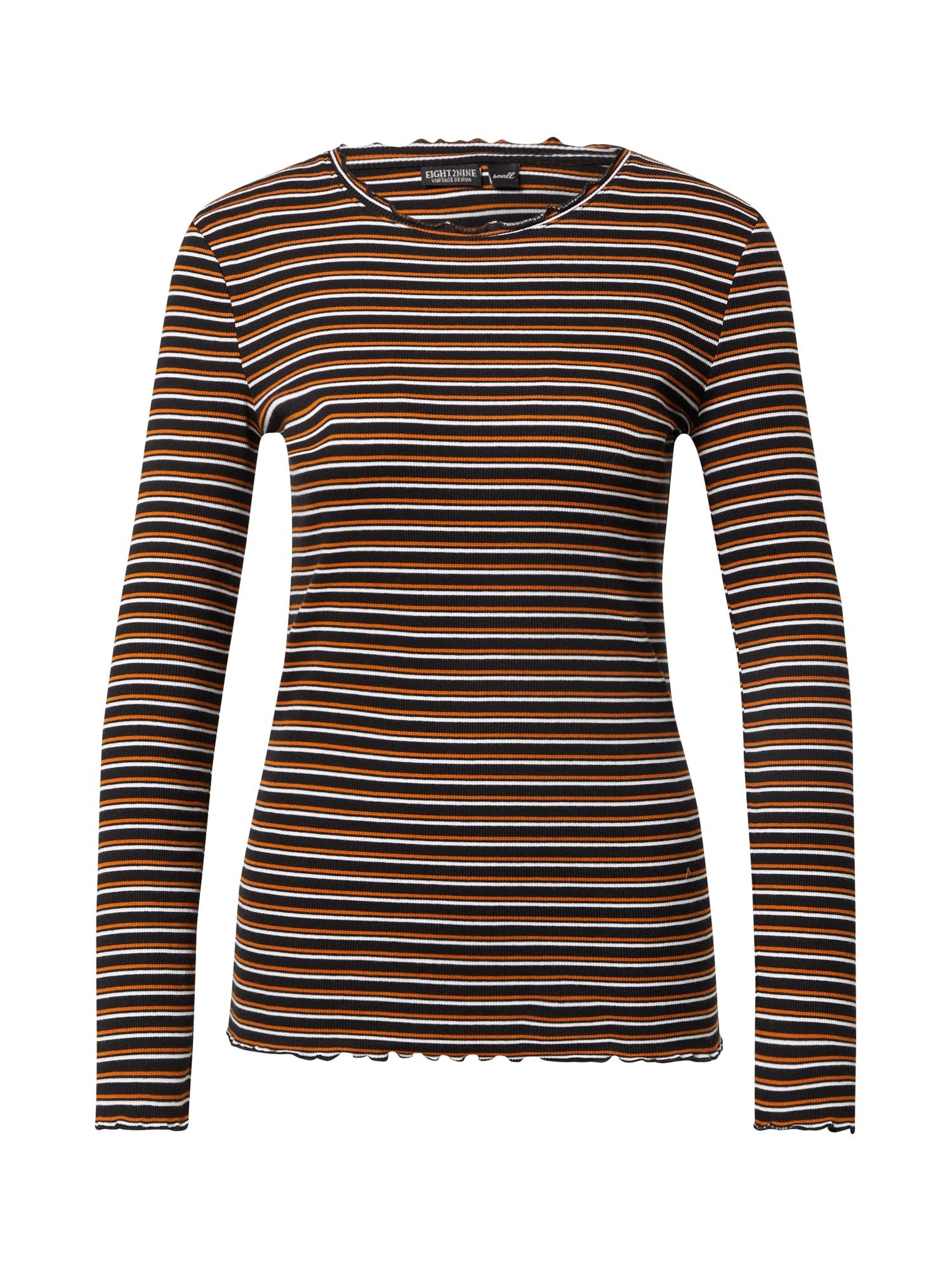 Eight2Nine Marškinėliai balta / juoda / oranžinė