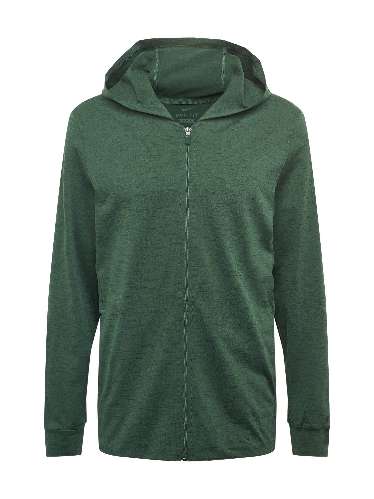 NIKE Džemperis treniruotėms margai žalia