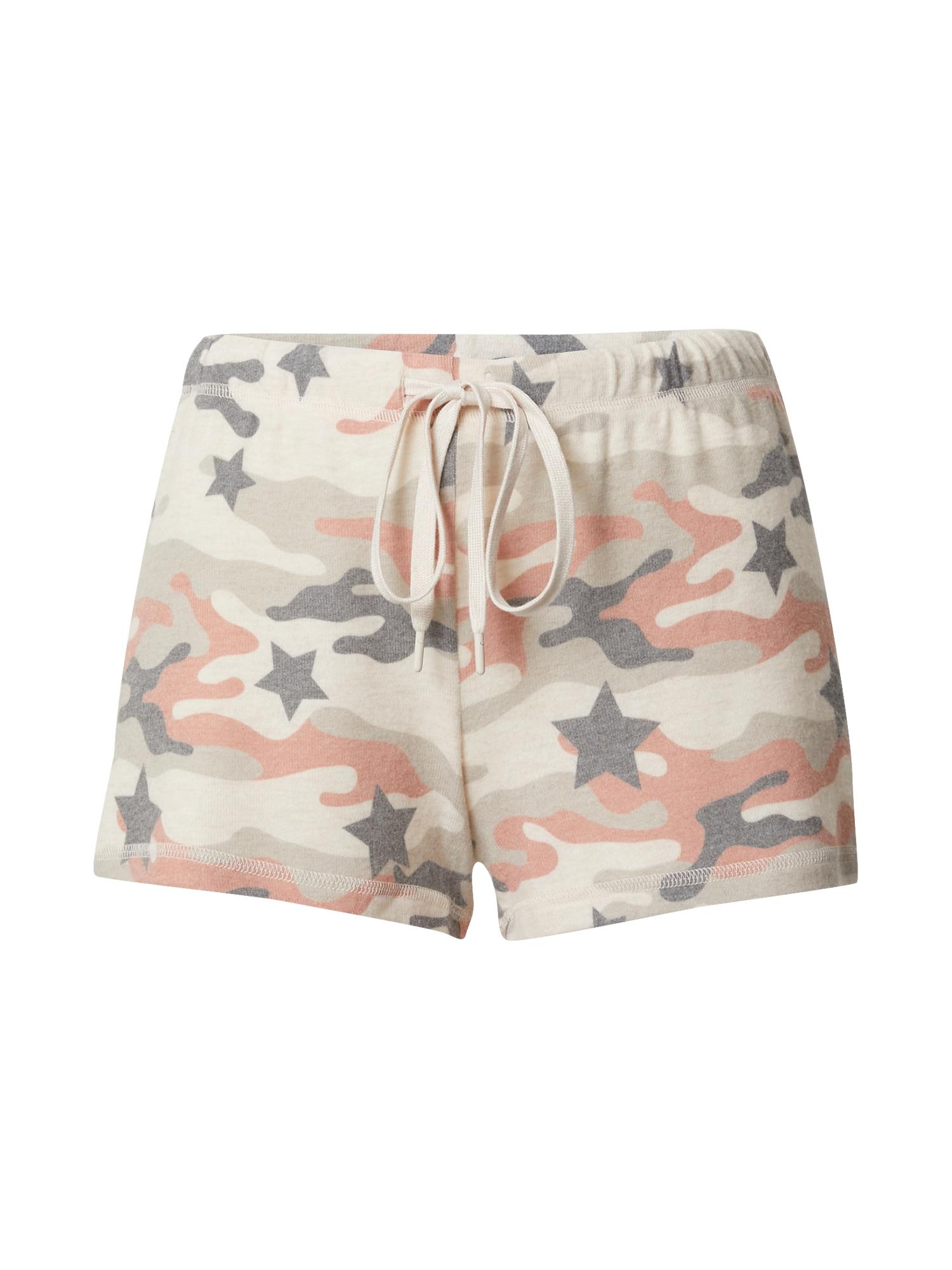 PJ Salvage Pyžamové kalhoty  béžová / pink / modrá