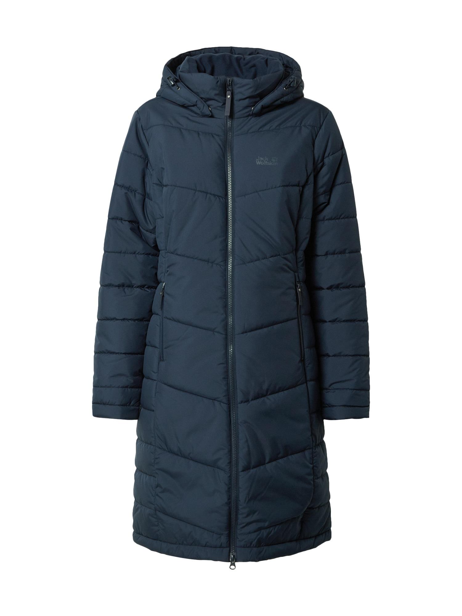 JACK WOLFSKIN Zimní kabát 'North York'  modrá / tmavě modrá