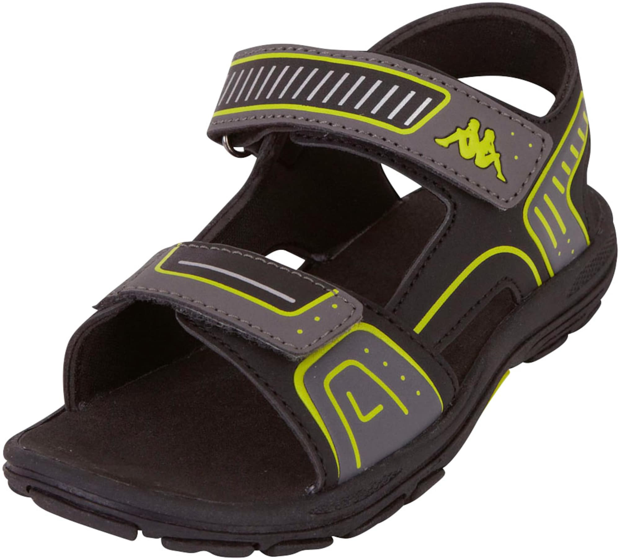 KAPPA Atviri batai juoda / pilka / kivių spalva
