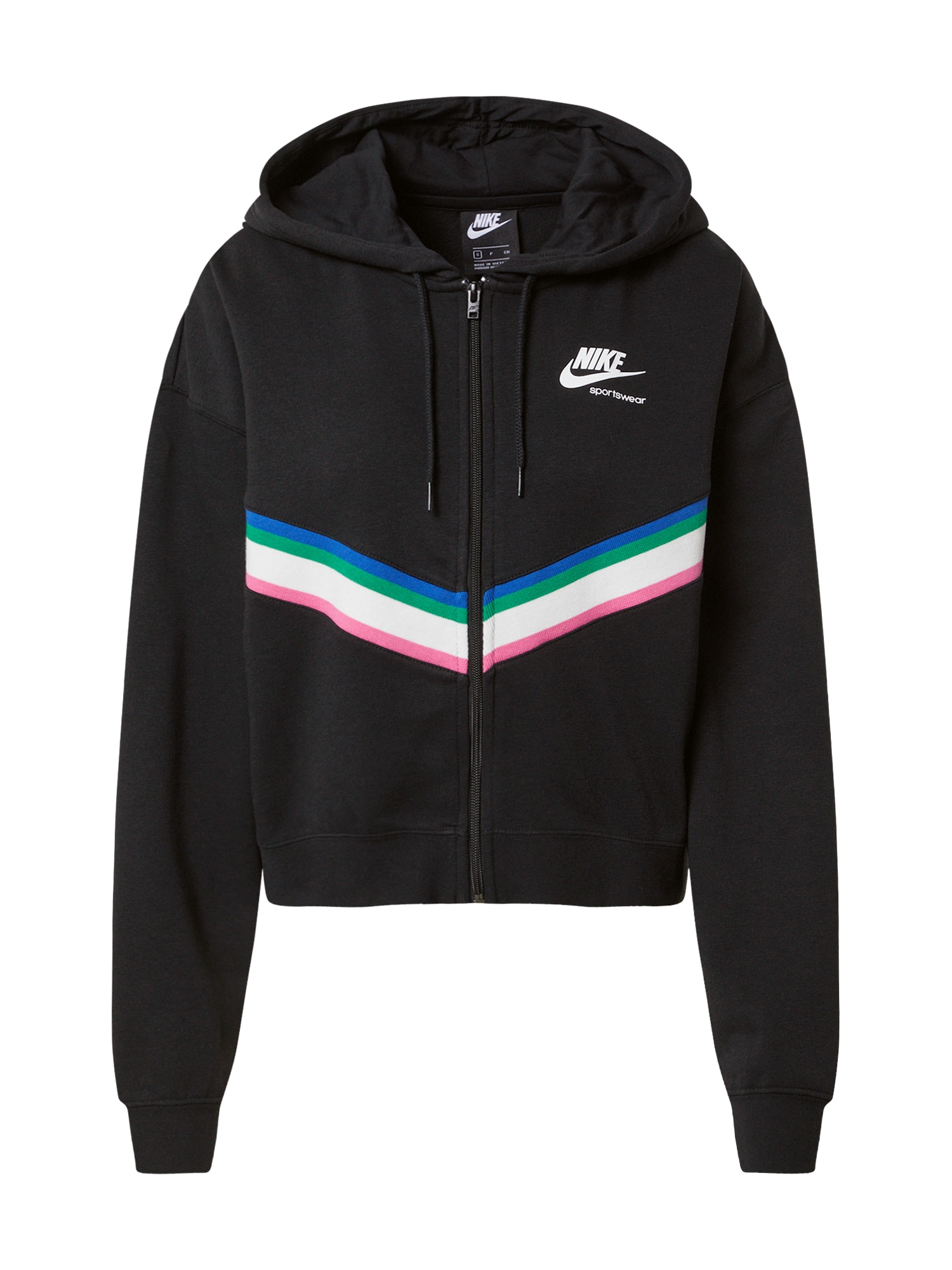 Nike Sportswear Džemperis juoda / balta / rožinė