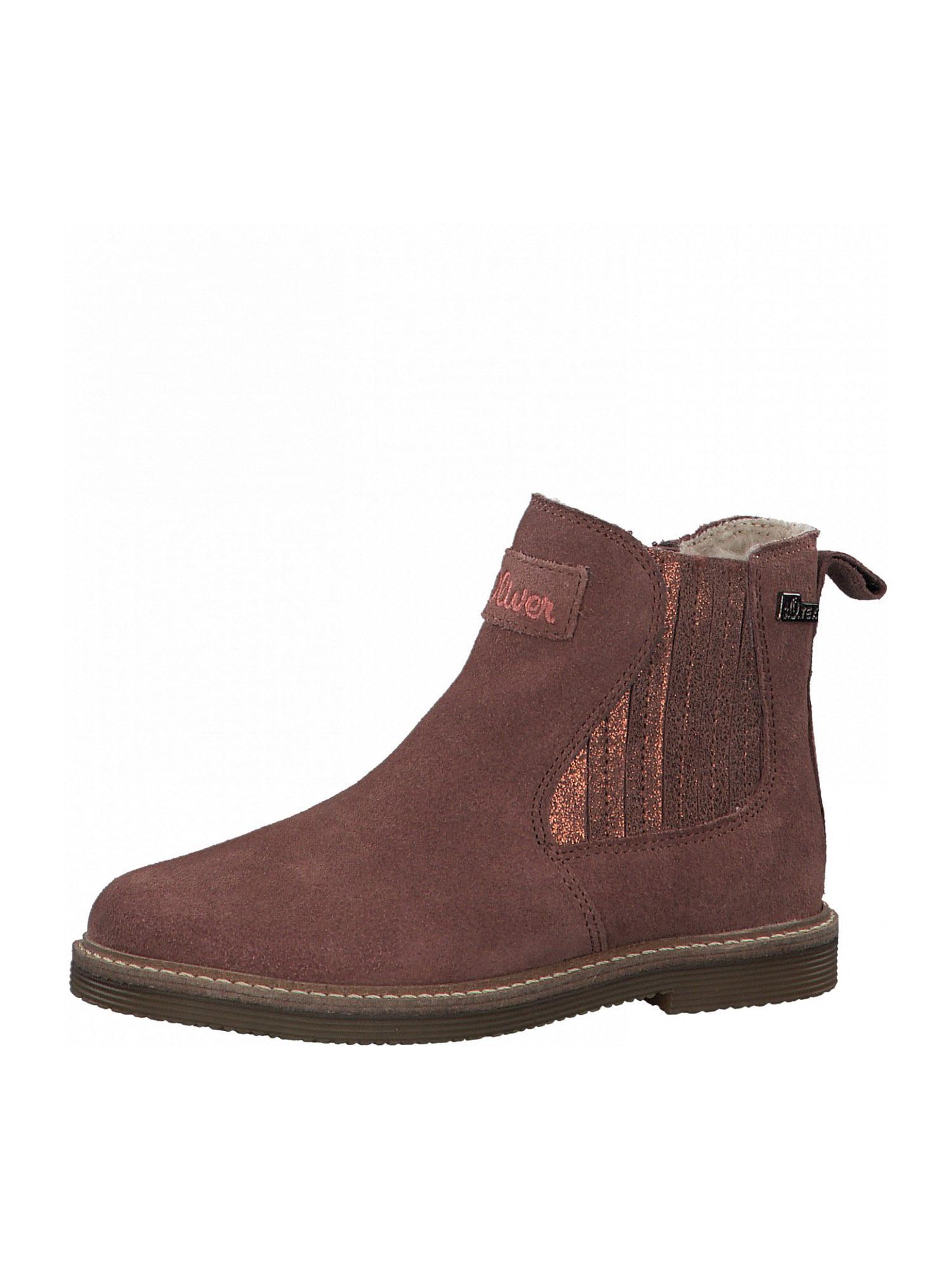 s.Oliver Junior Auliniai batai su kulniuku tamsiai rožinė
