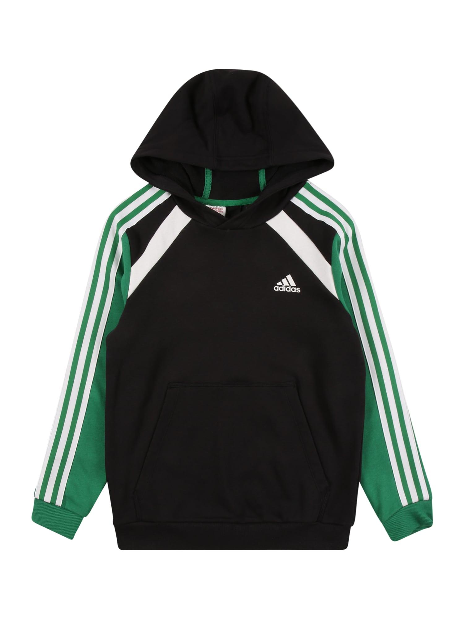 ADIDAS PERFORMANCE Sportinio tipo megztinis juoda / žolės žalia / natūrali balta