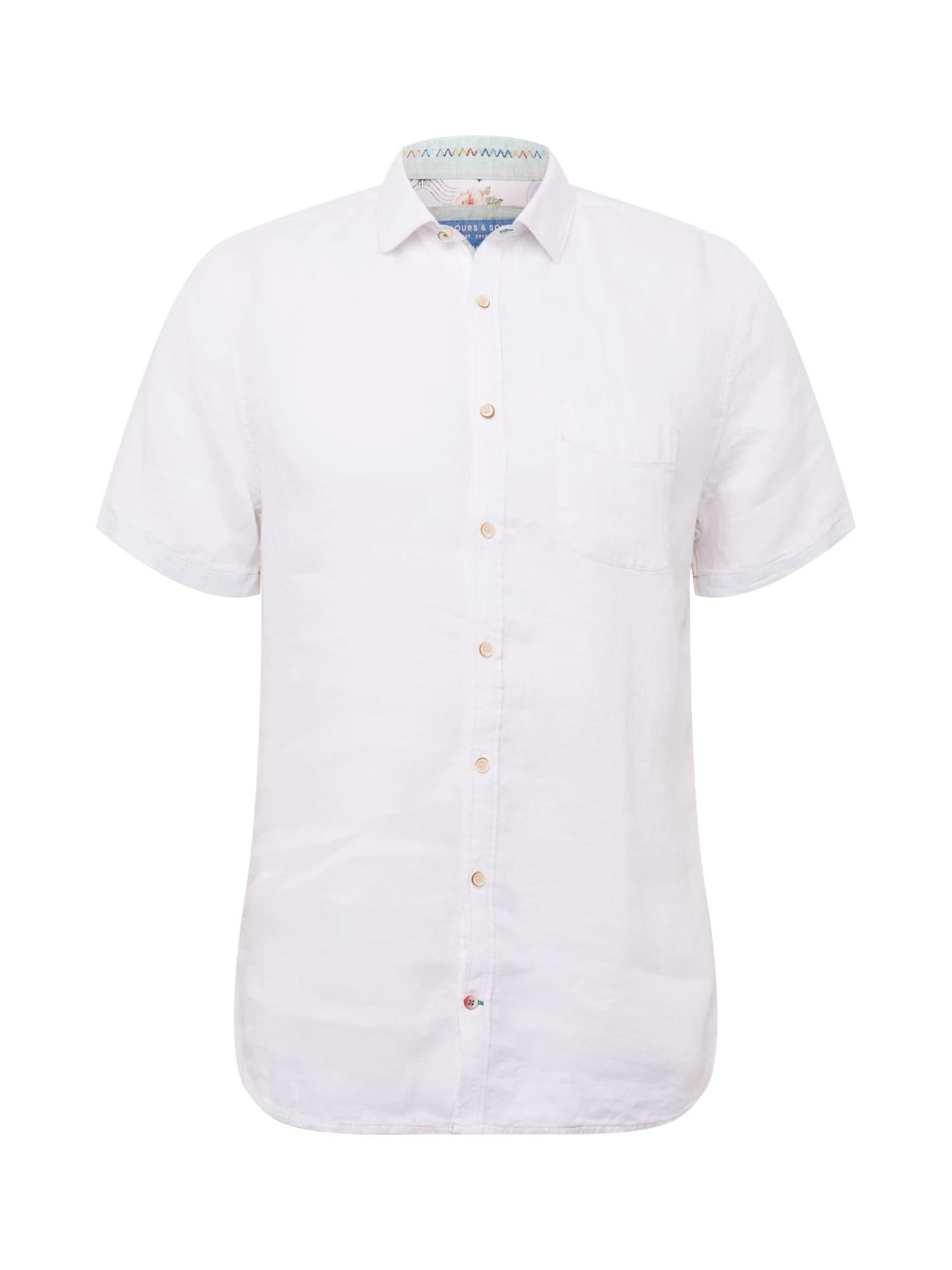 COLOURS & SONS Marškiniai balta / mėtų spalva