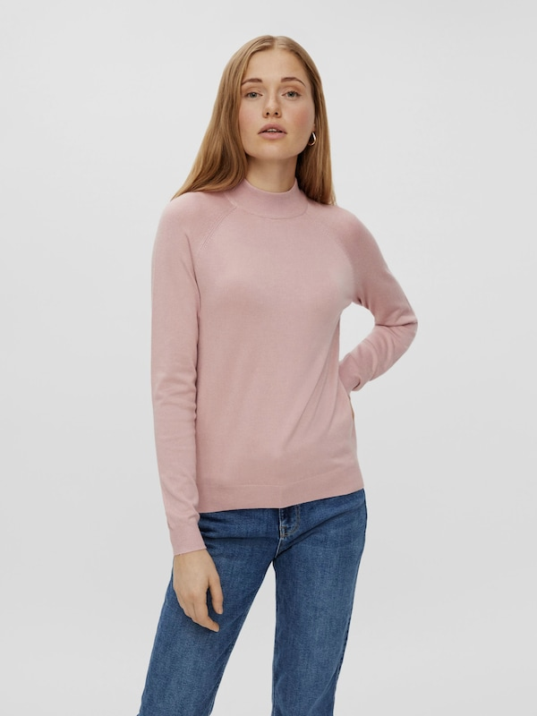 Pieces Sera Long Sleeve High Neck Knitted Pullover