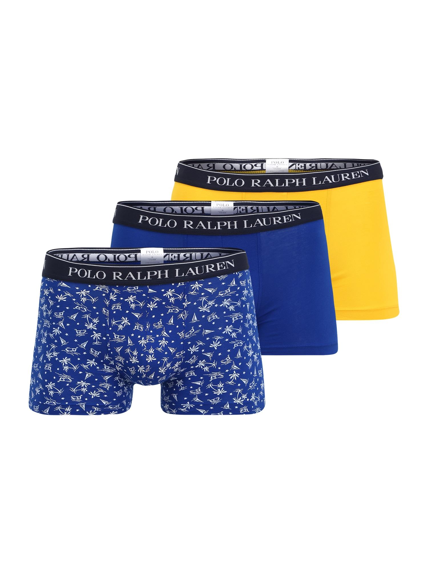 POLO RALPH LAUREN Boxer trumpikės mėlyna / geltona / juoda / balta