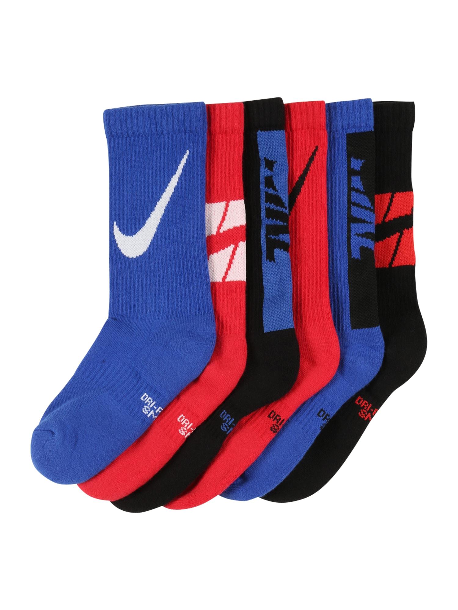 Nike Sportswear Kojinės tamsiai mėlyna / raudona / juoda / balta