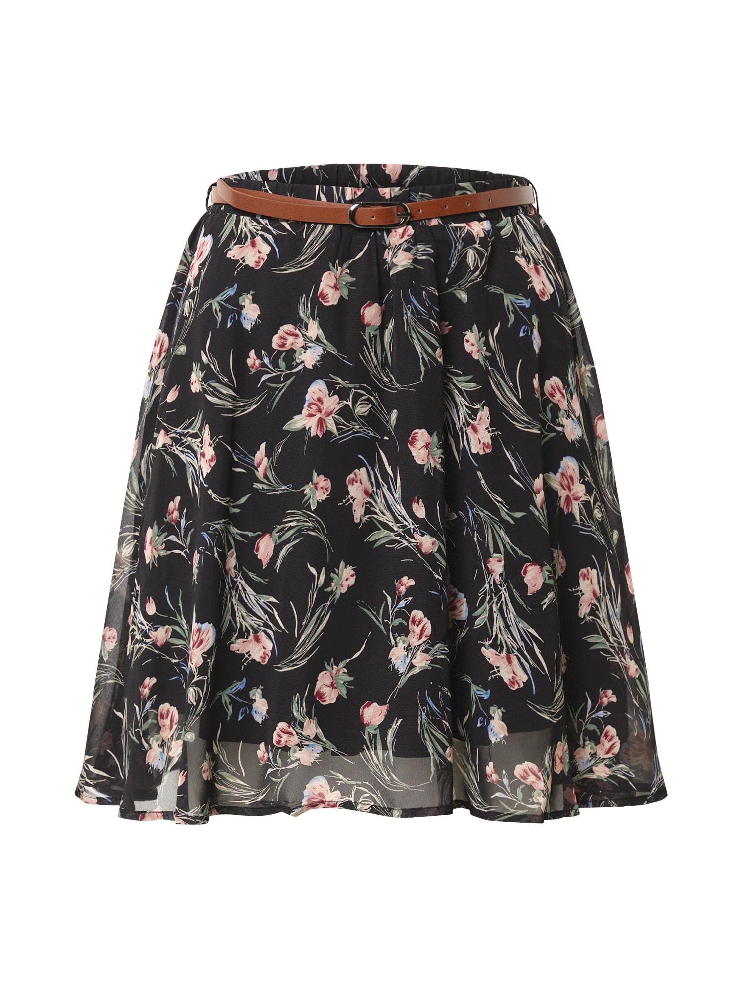 ABOUT YOU Sijonas 'Ava Skirt' mišrios spalvos / juoda / raudona / šviesiai mėlyna / rusvai žalia