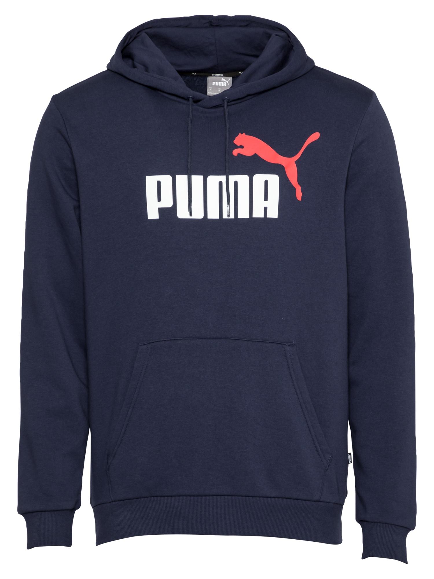 PUMA Sportinio tipo megztinis tamsiai mėlyna / balta / raudona