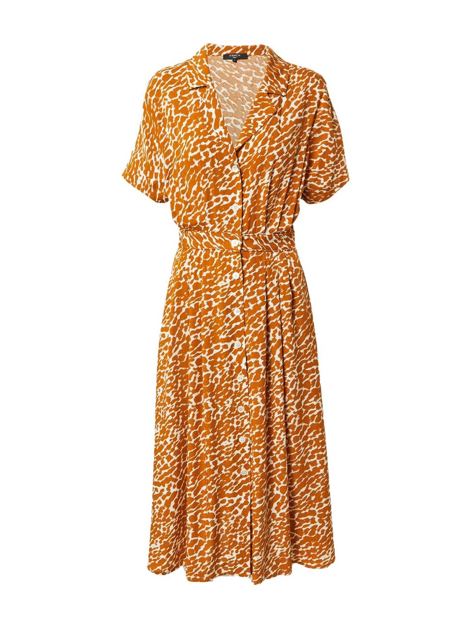 FRNCH PARIS Palaidinės tipo suknelė balta / tamsiai oranžinė