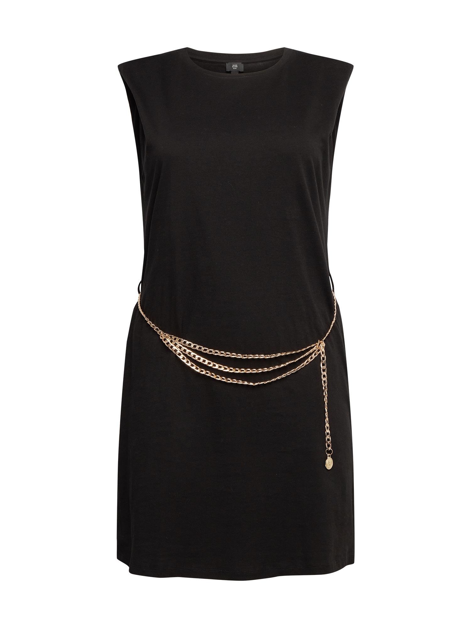 River Island Plus Kokteilinė suknelė juoda