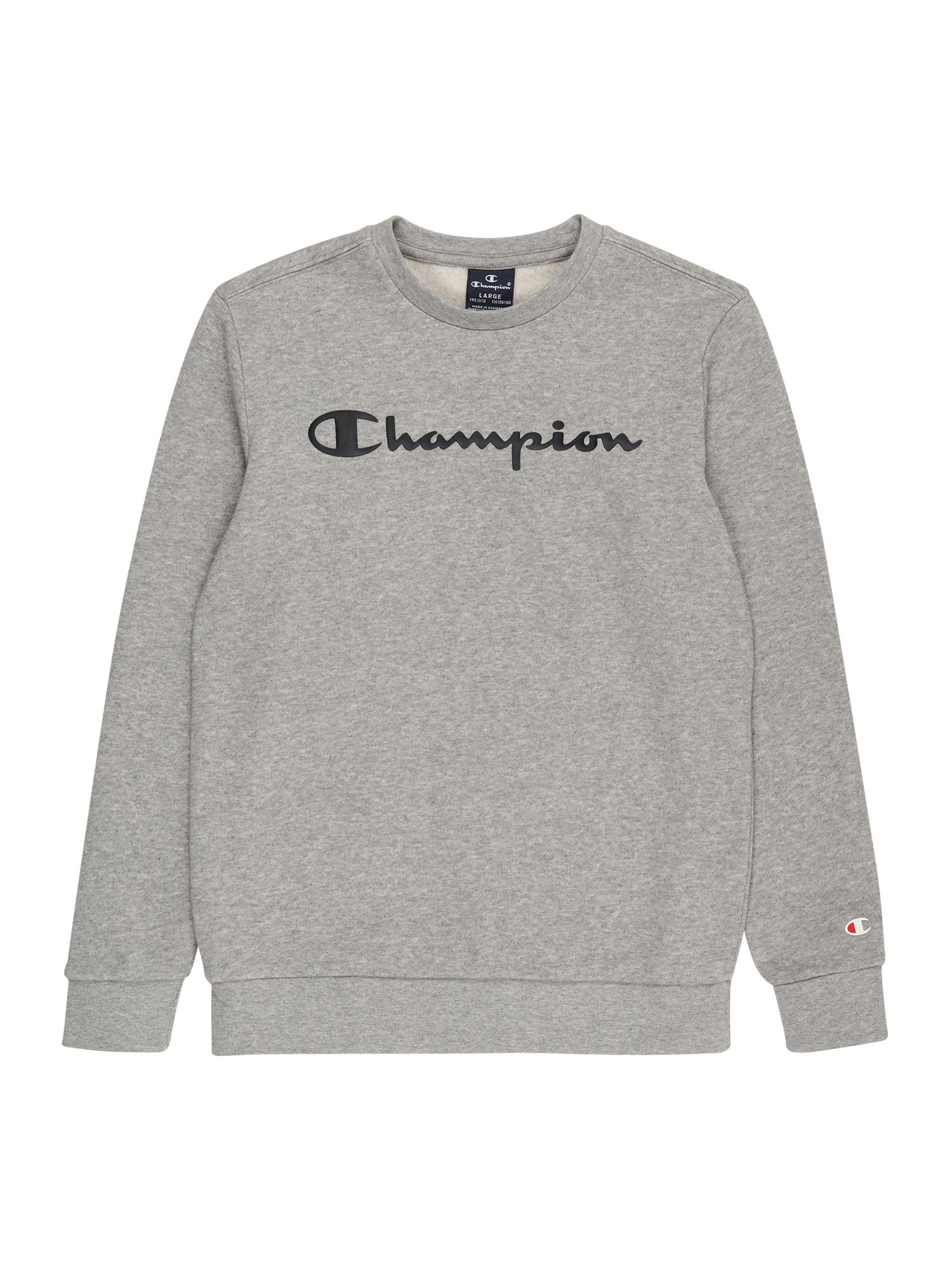 Champion Authentic Athletic Apparel Megztinis be užsegimo pilka / juoda