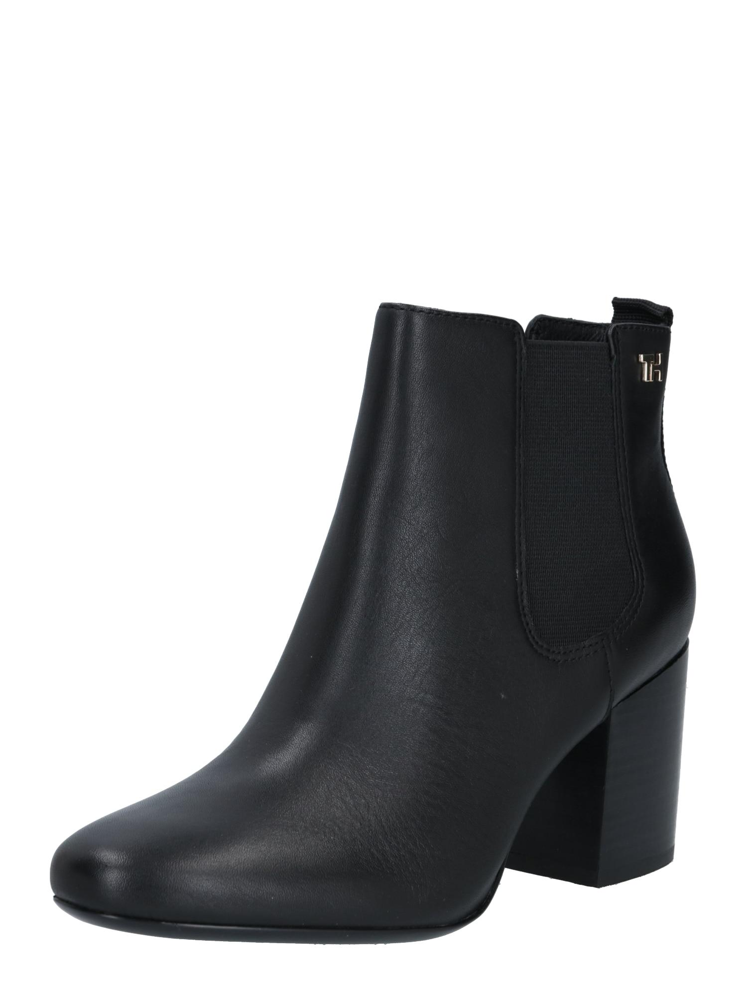 TOMMY HILFIGER Chelsea boty  černá