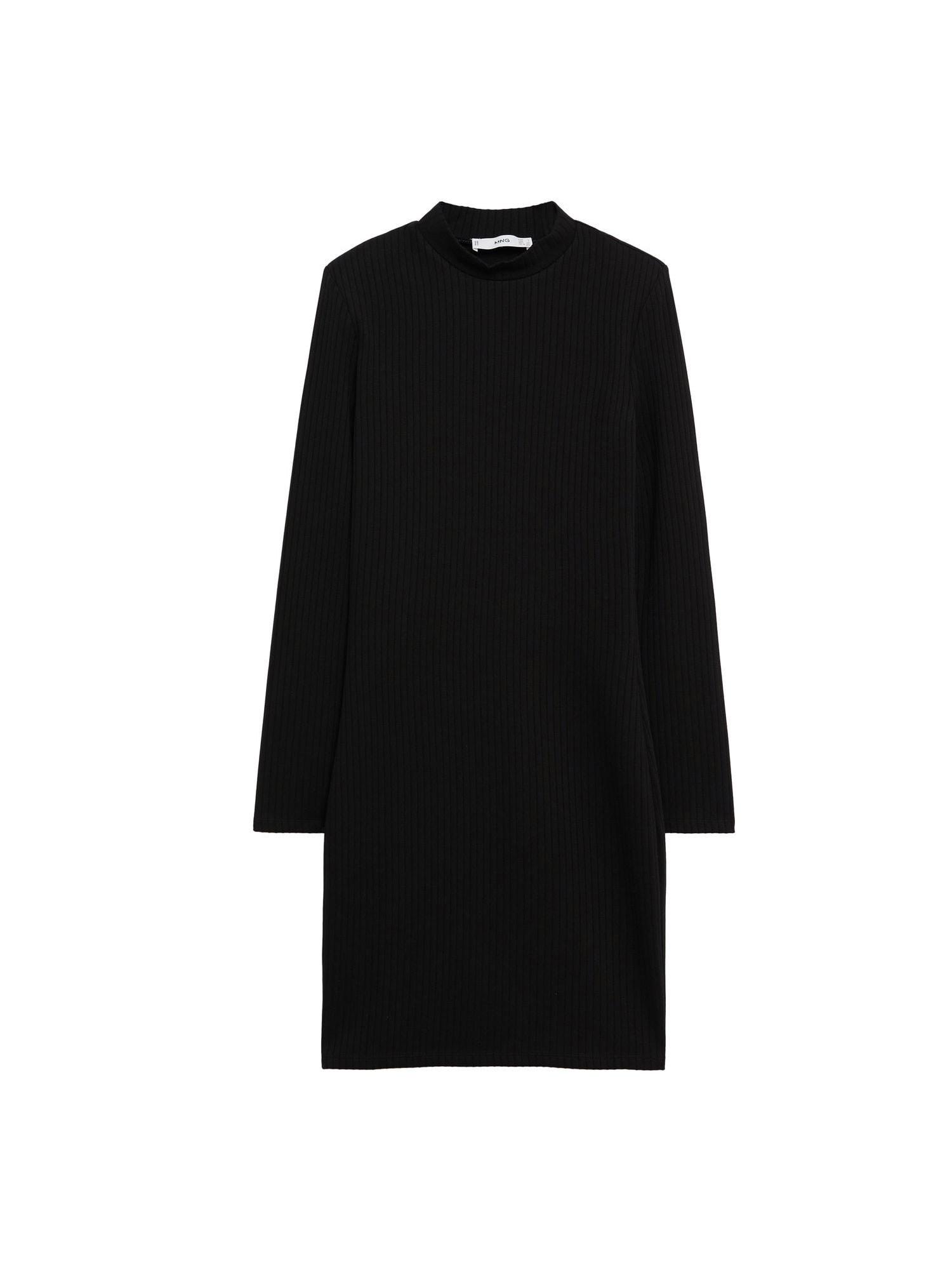 MANGO Úpletové šaty 'Rosario'  černá