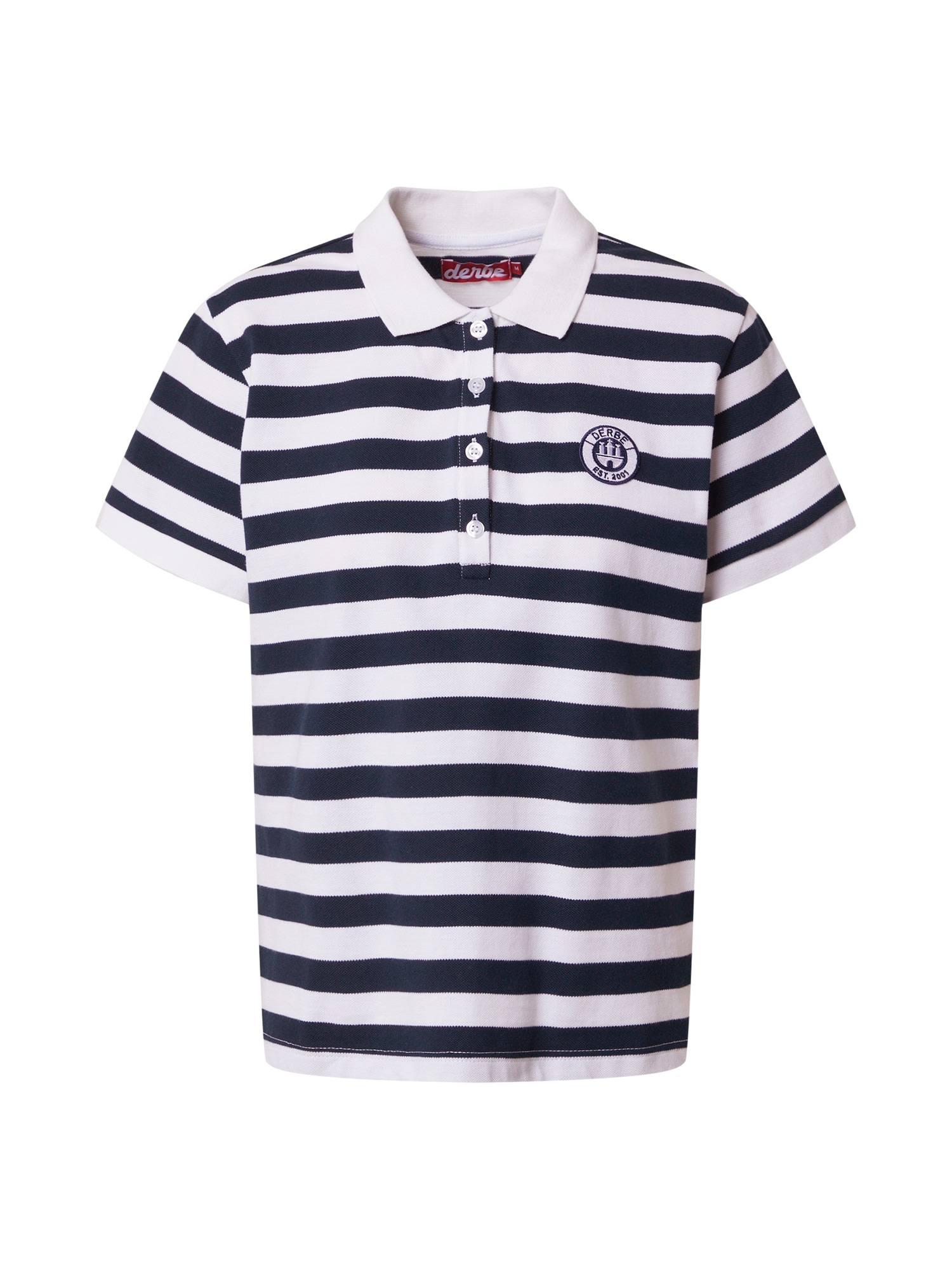 Derbe Marškinėliai tamsiai mėlyna / balta