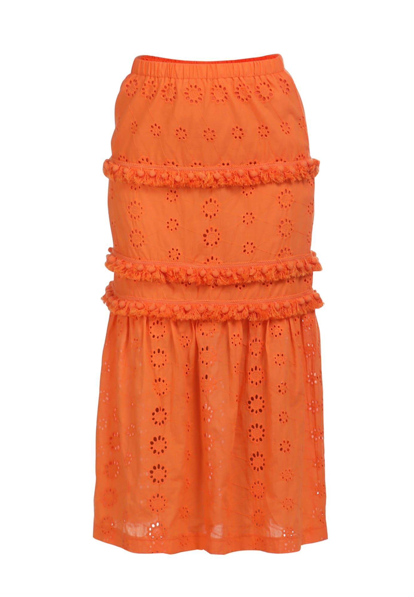 IZIA Sijonas neoninė oranžinė