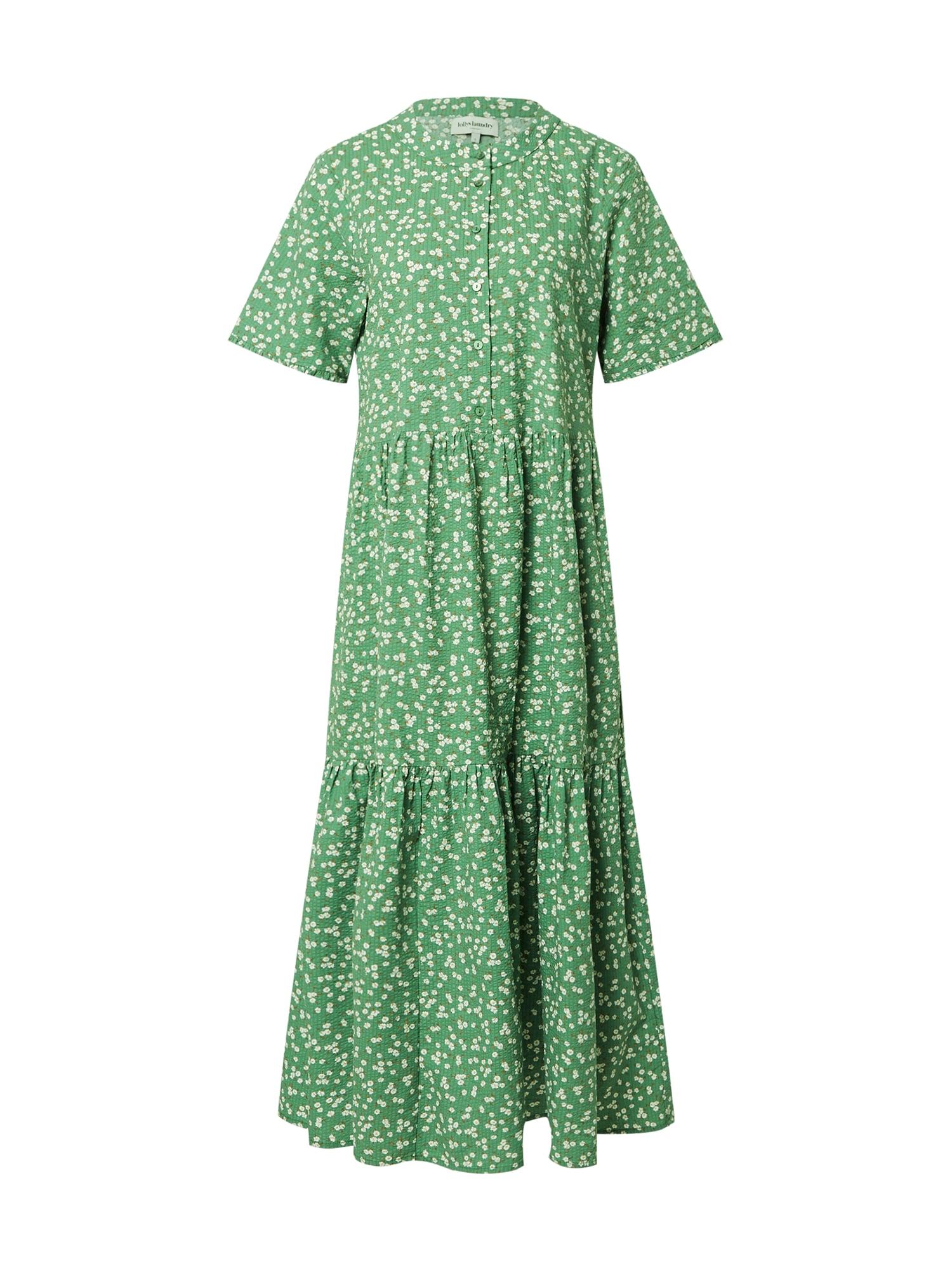 Lollys Laundry Palaidinės tipo suknelė žolės žalia / balta / karamelės / žaliosios citrinos spalva / ruda (konjako)