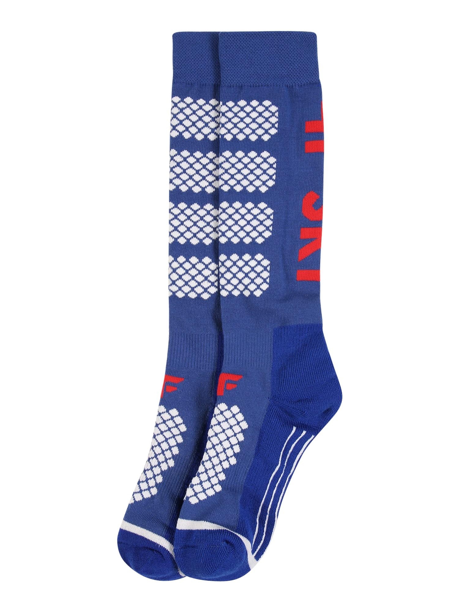 4F Sportinės kojinės kobalto mėlyna / balta / raudona