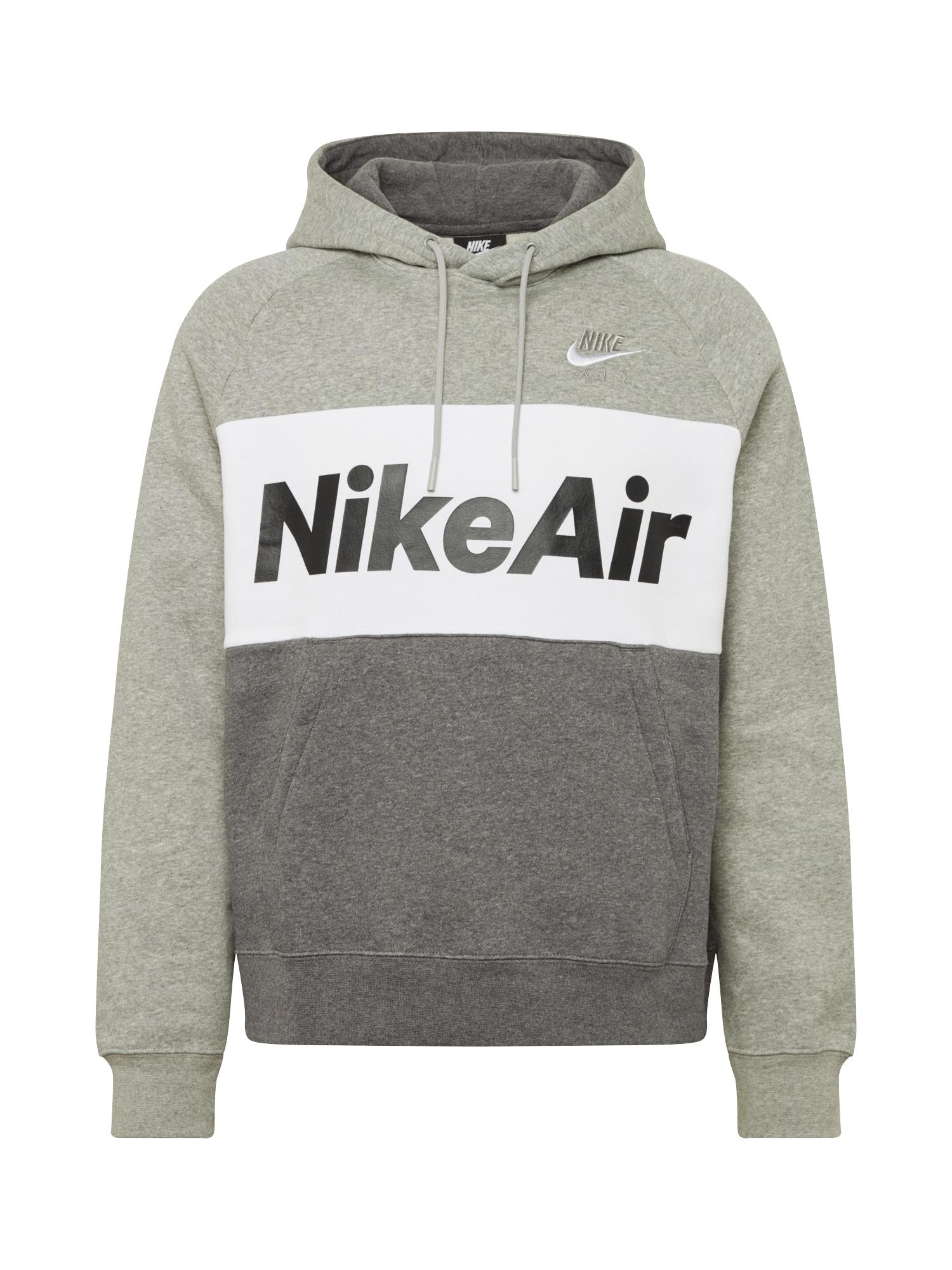 Nike Sportswear Mikina 'Air'  tmavě šedá / bílá / šedá
