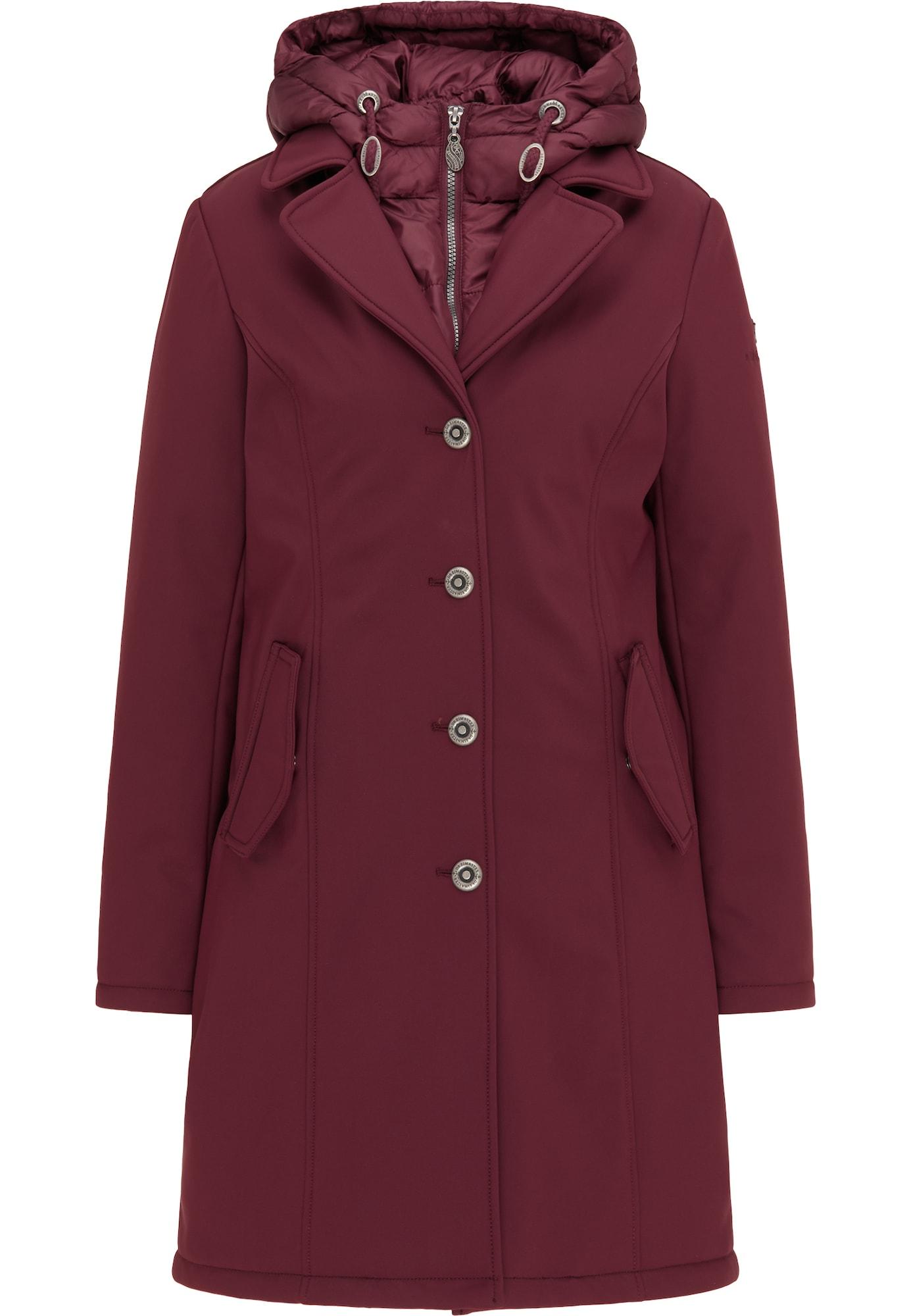 DreiMaster Klassik Žieminis paltas tamsiai raudona