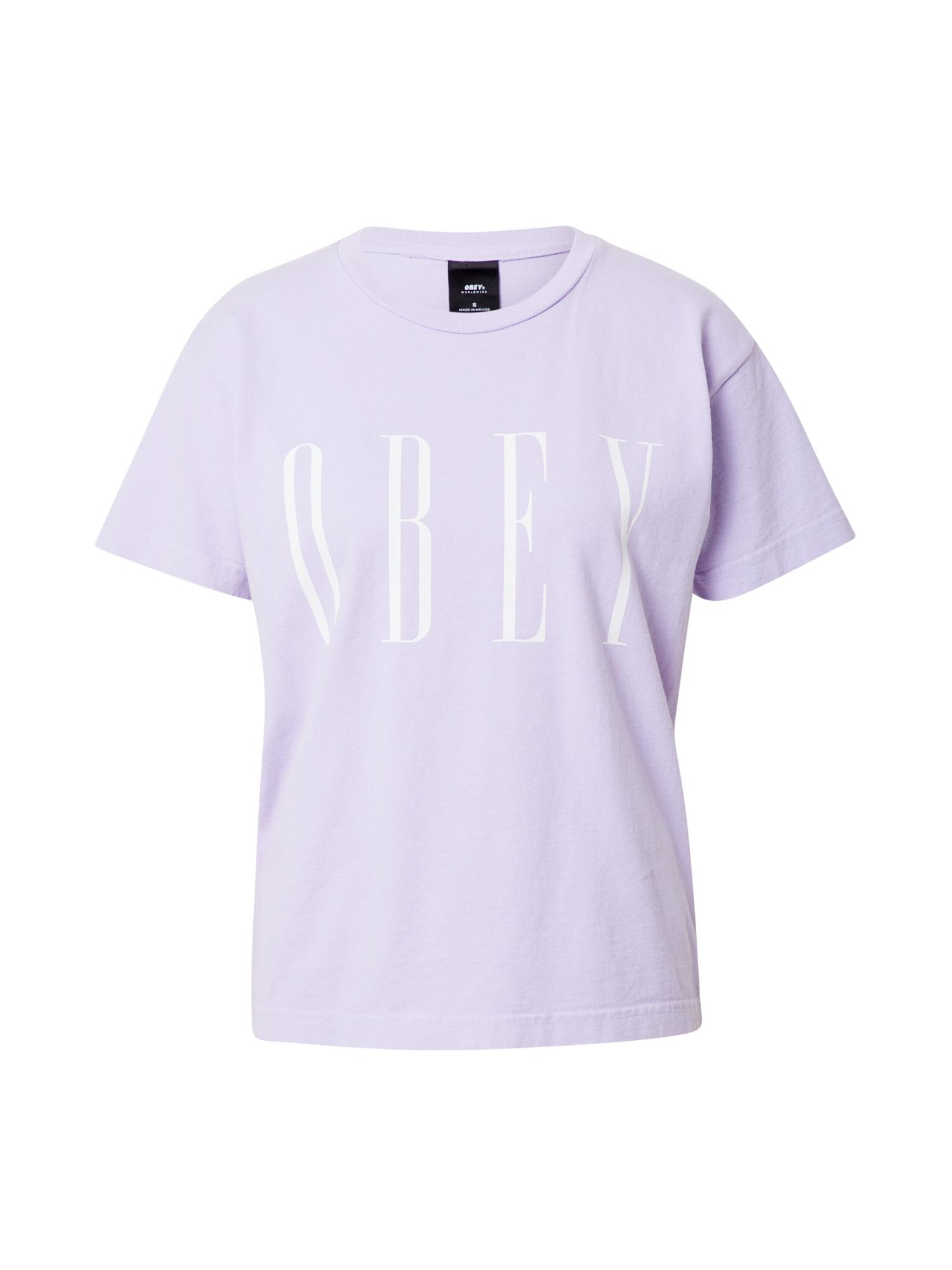 Obey Tričko  fialová / bílá