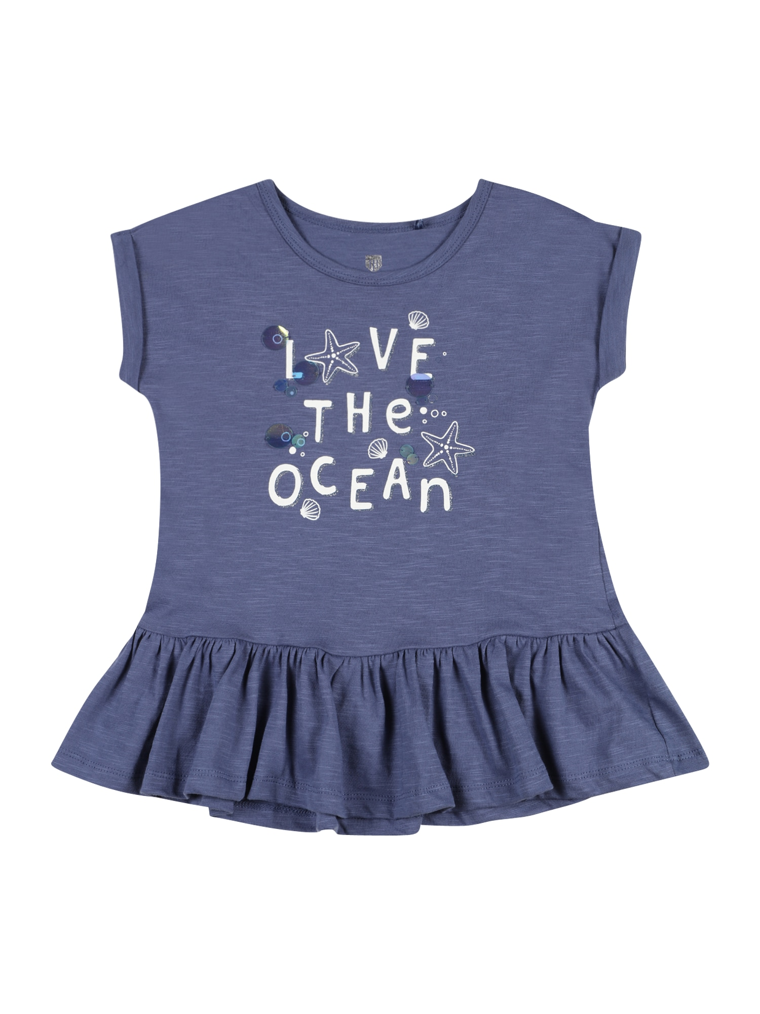 BASEFIELD Marškinėliai violetinė-mėlyna / balta / nefrito spalva / tamsiai mėlyna