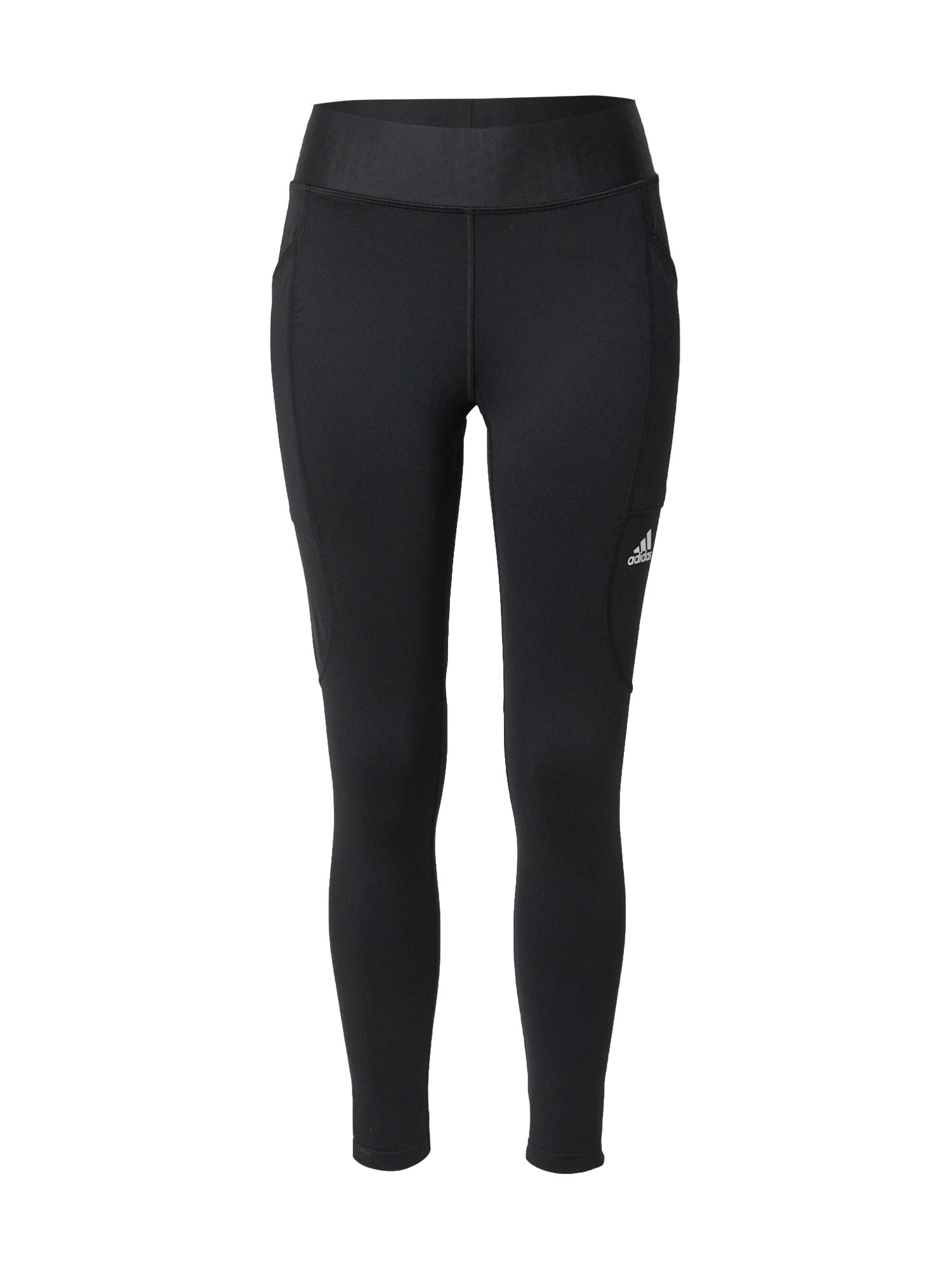 adidas Golf Sportinės kelnės juoda / balta