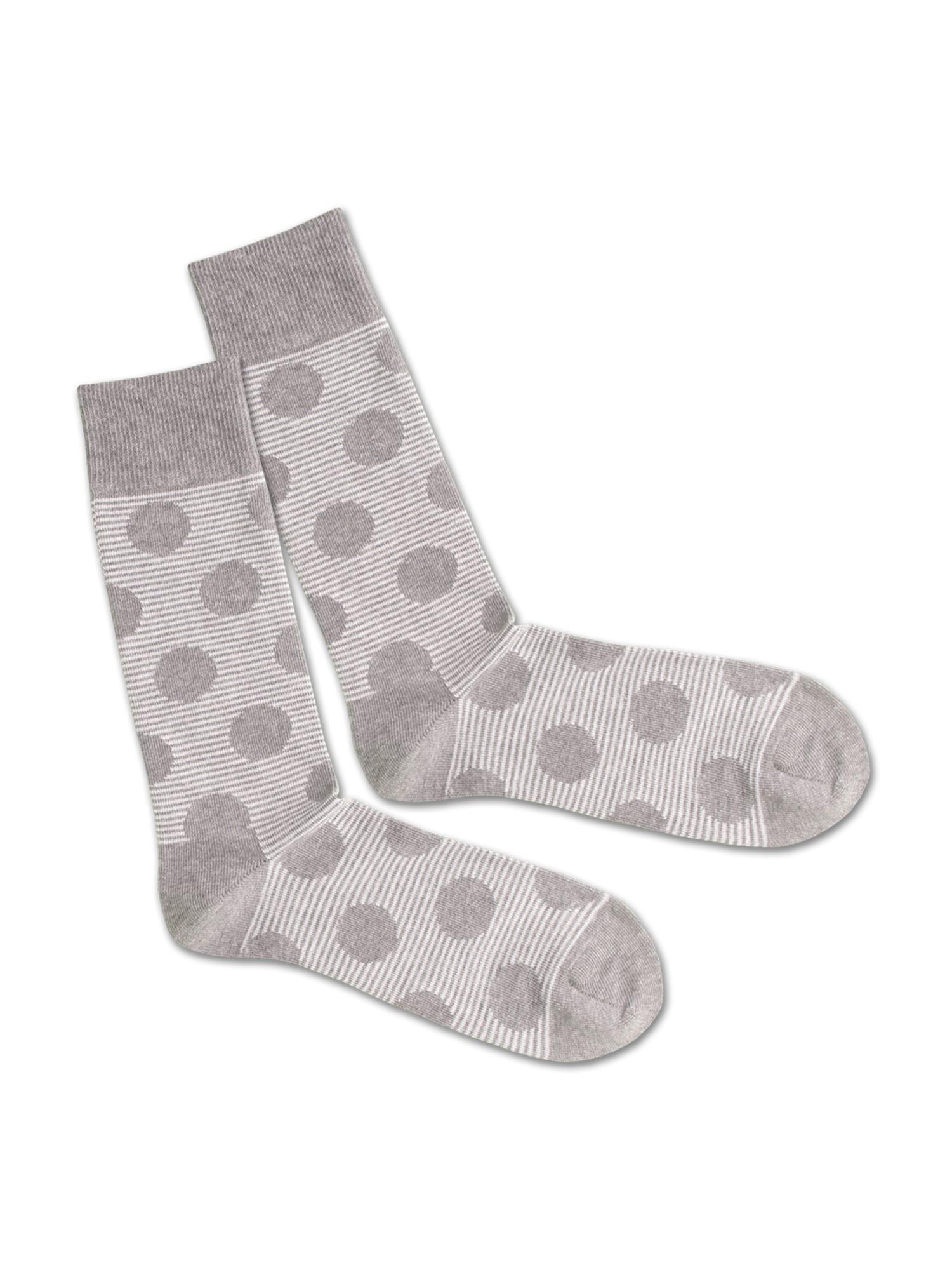DillySocks Ponožky 'SS20-17 Concrete Line'  bílá / šedá