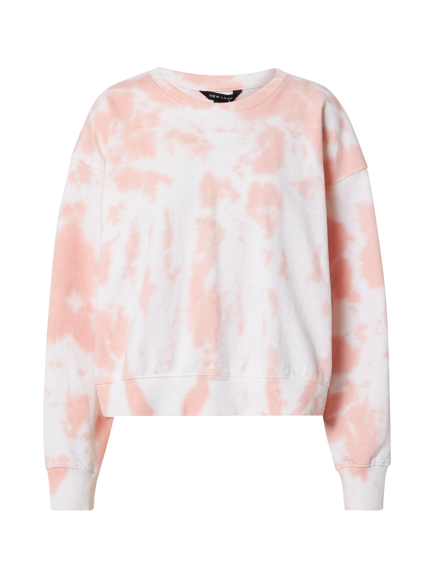 NEW LOOK Megztinis be užsegimo rožinė / balta