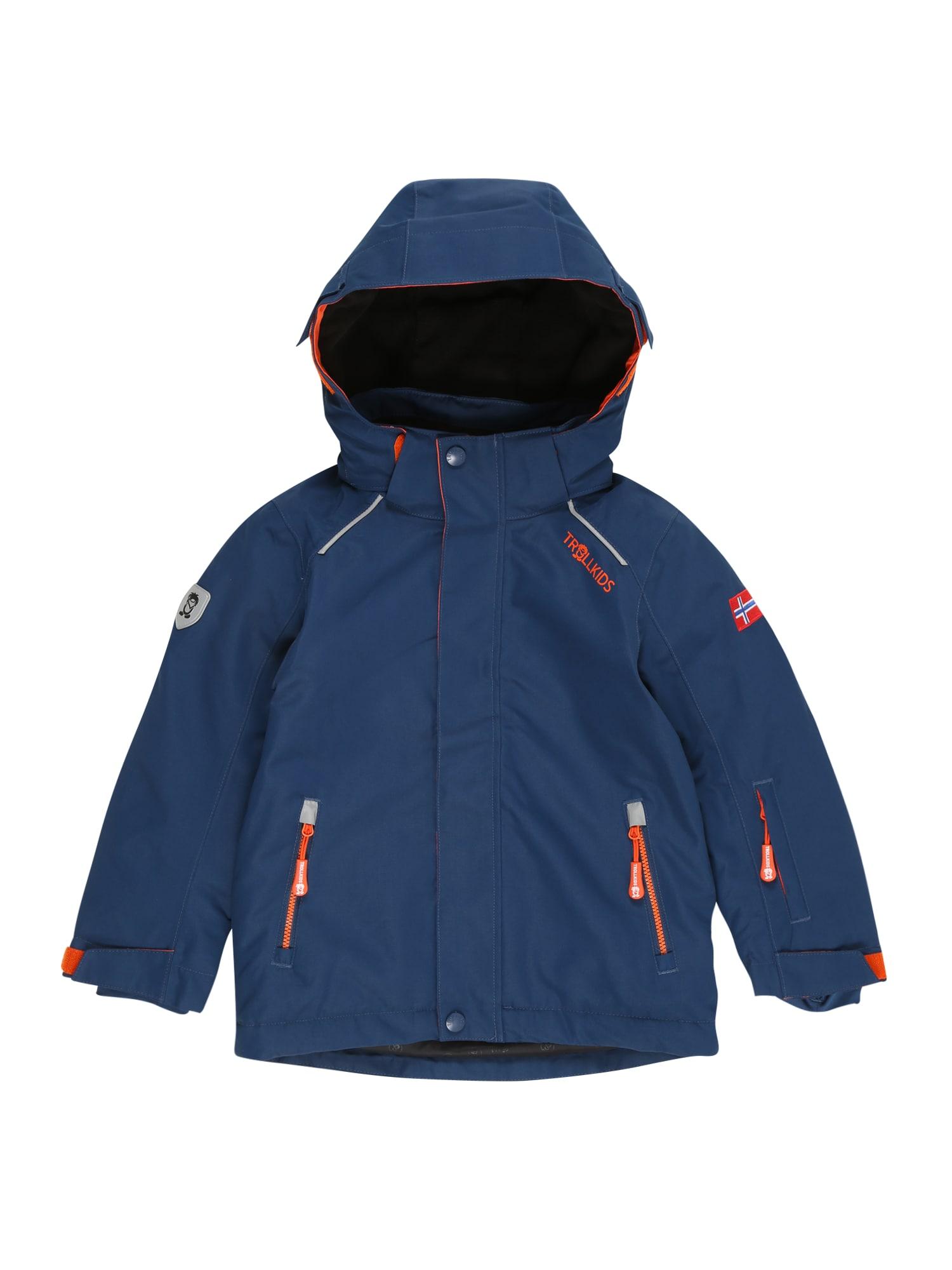TROLLKIDS Outdoorová bunda 'Holmenkollen'  oranžová / tmavě modrá