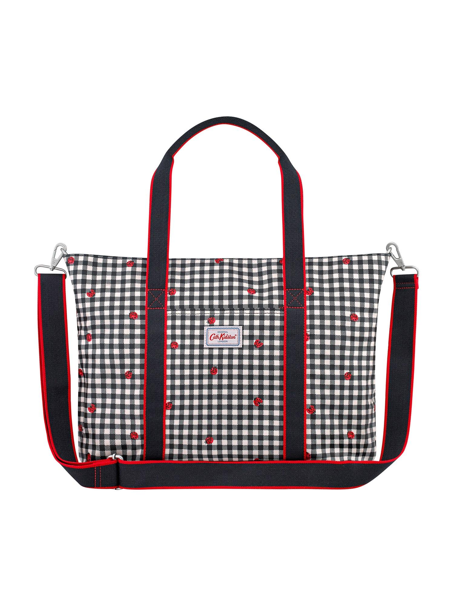 Cath Kidston Mamos krepšys šviesiai pilka / raudona / juoda