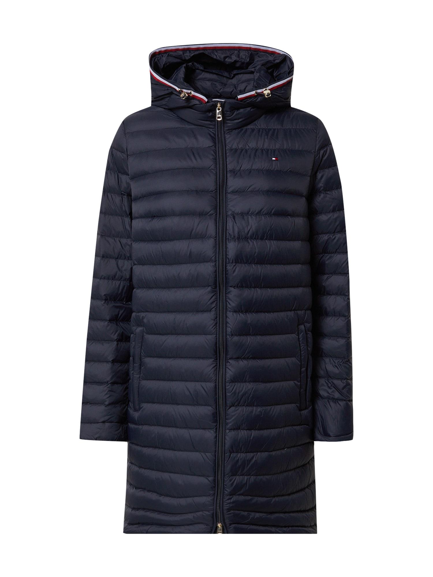 TOMMY HILFIGER Zimní kabát 'BELLA'  tmavě modrá / bílá / červená
