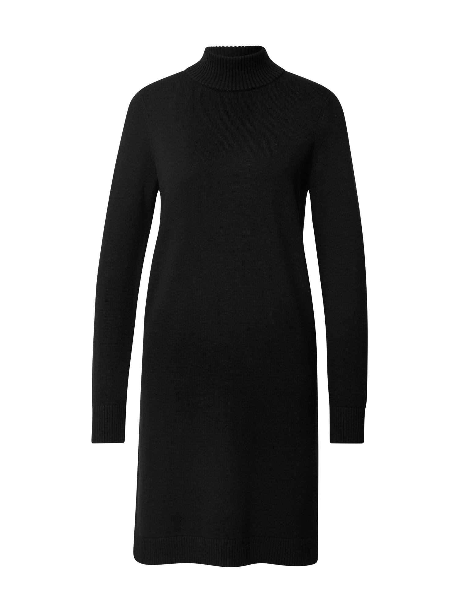 BOSS Megzta suknelė juoda