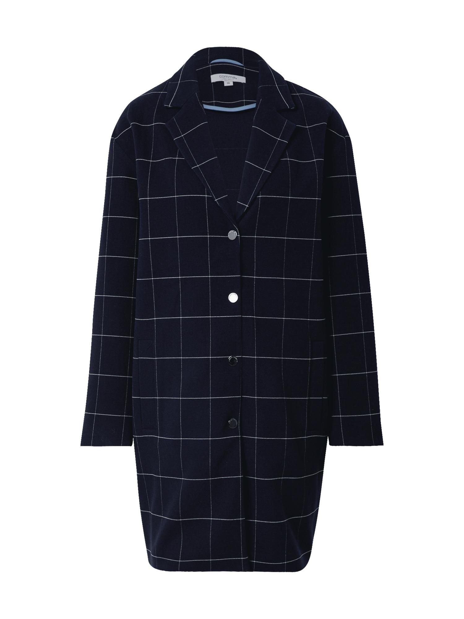 COMMA Demisezoninis paltas tamsiai mėlyna / balta