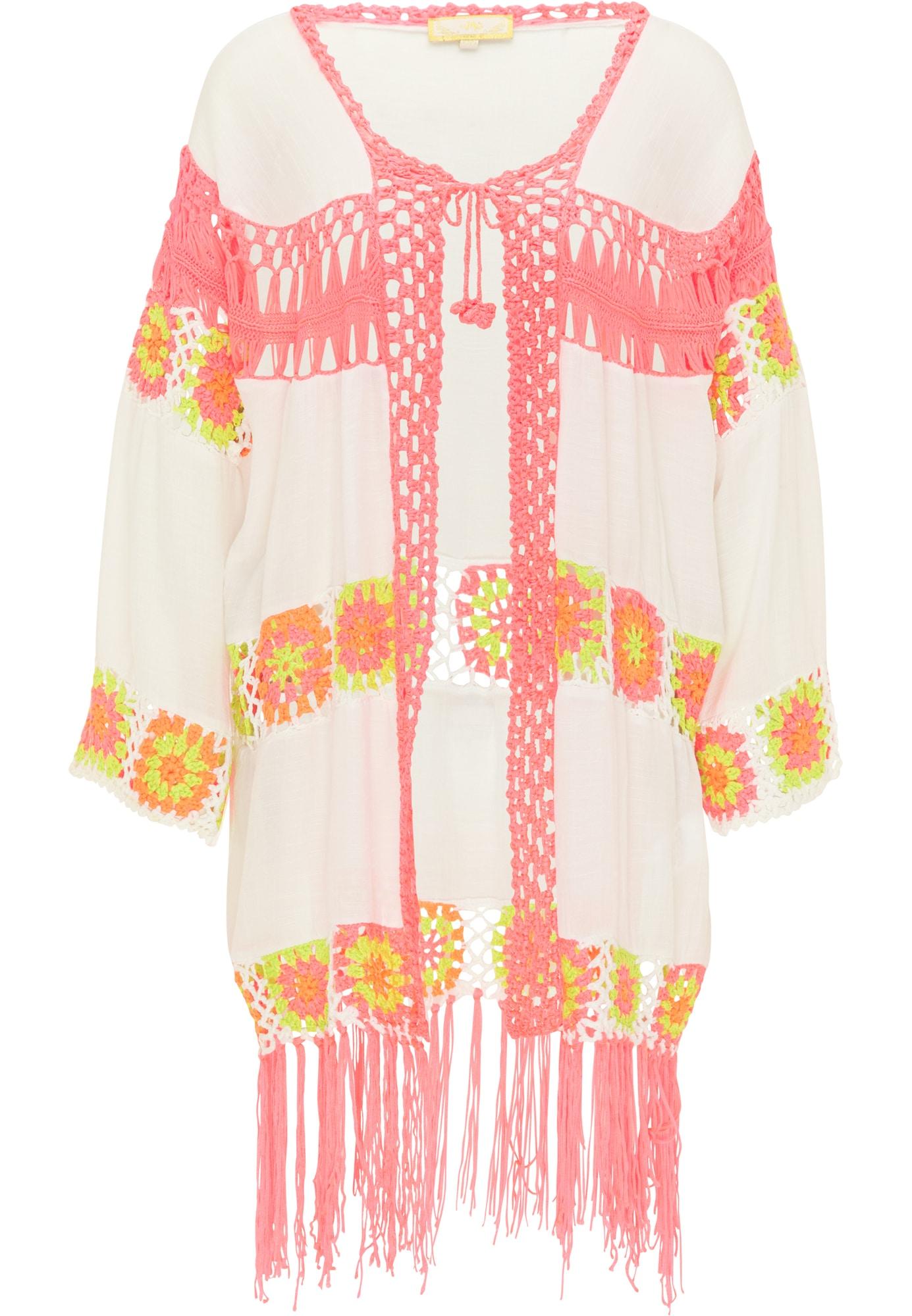 MYMO Kimono balta / geltona / rožinė