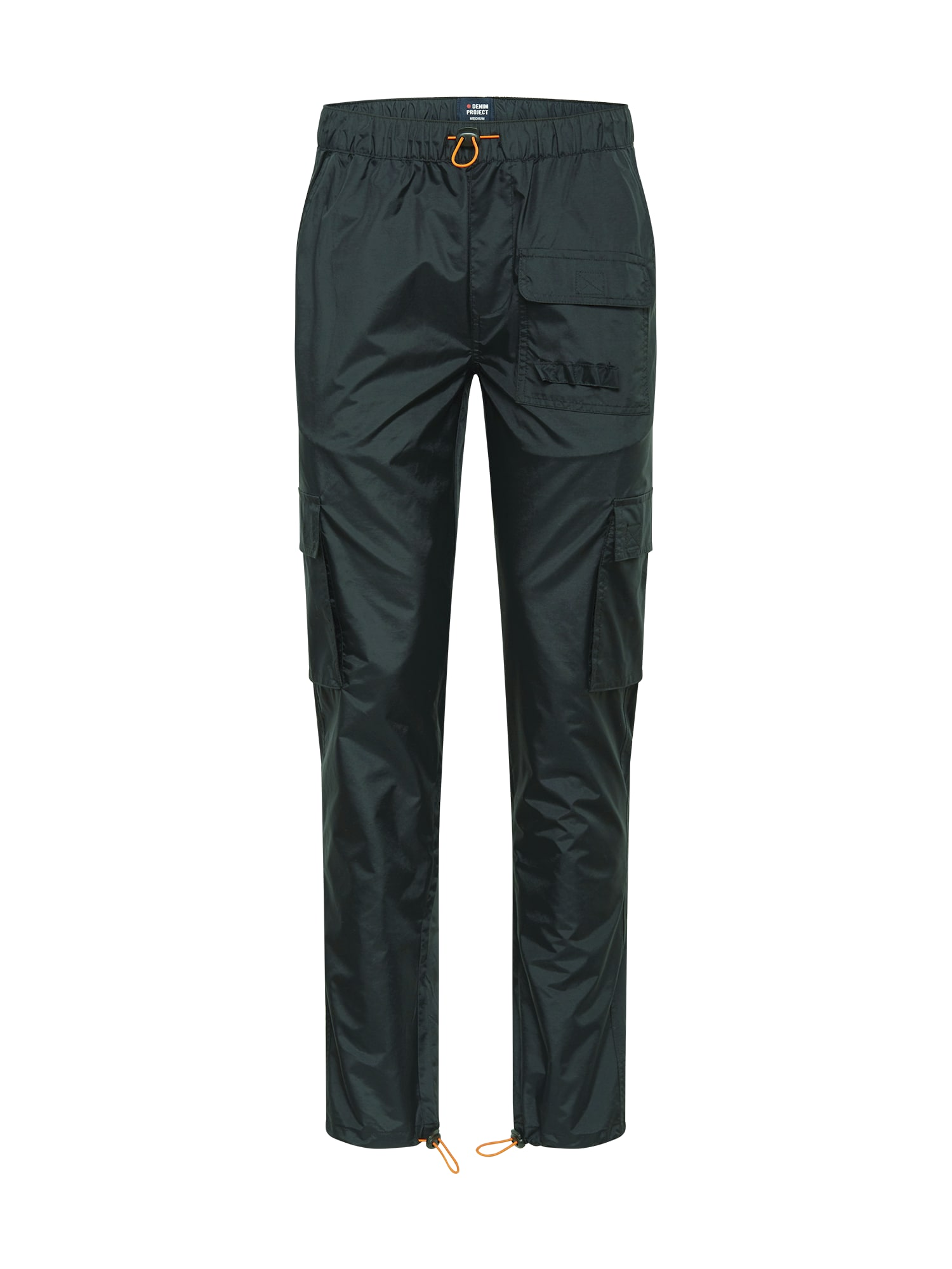 Denim Project Laisvo stiliaus kelnės tamsiai žalia